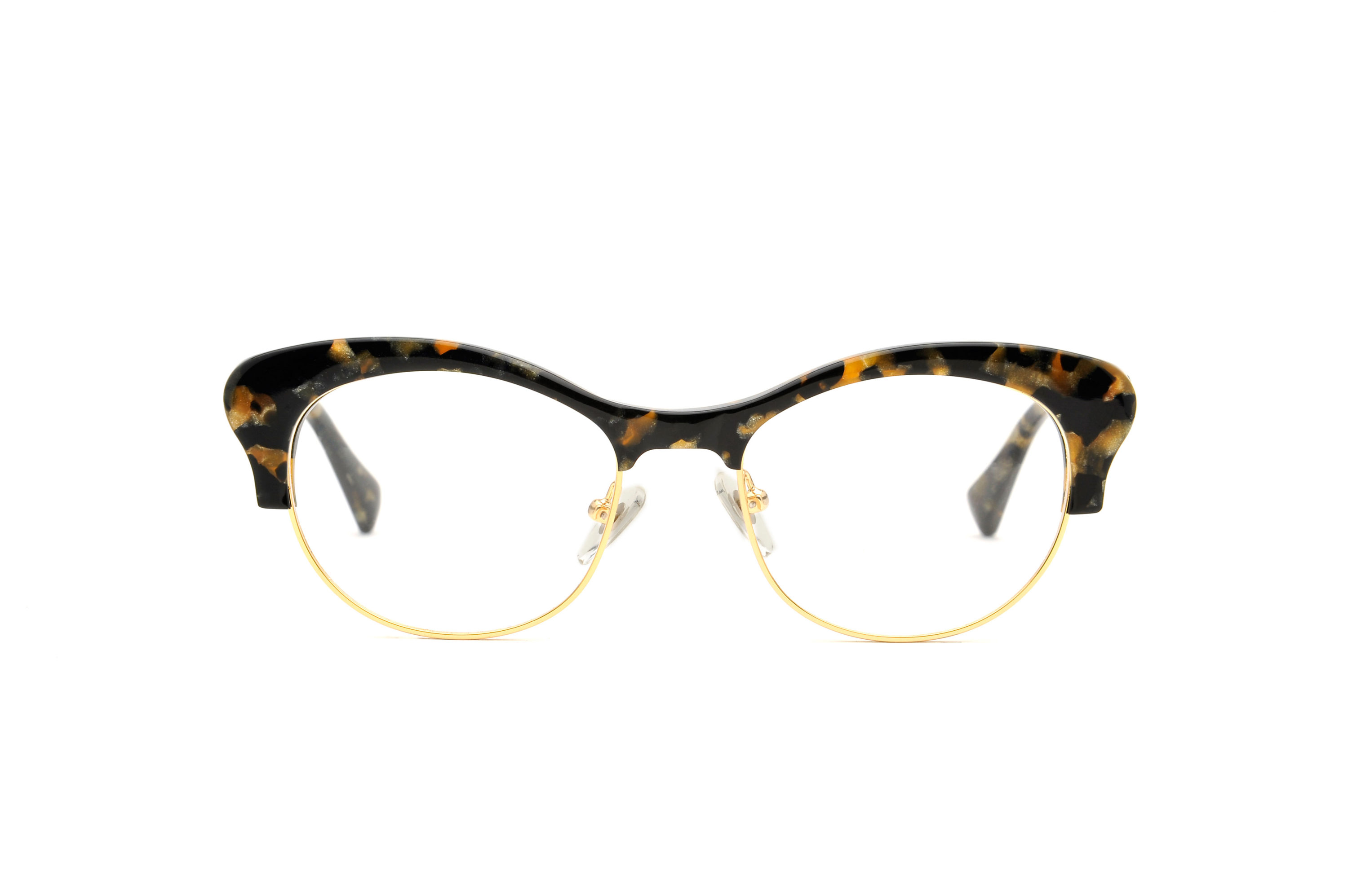 Orchid acetate/metal cat eye tortoise sunglasses by GIGI Studios