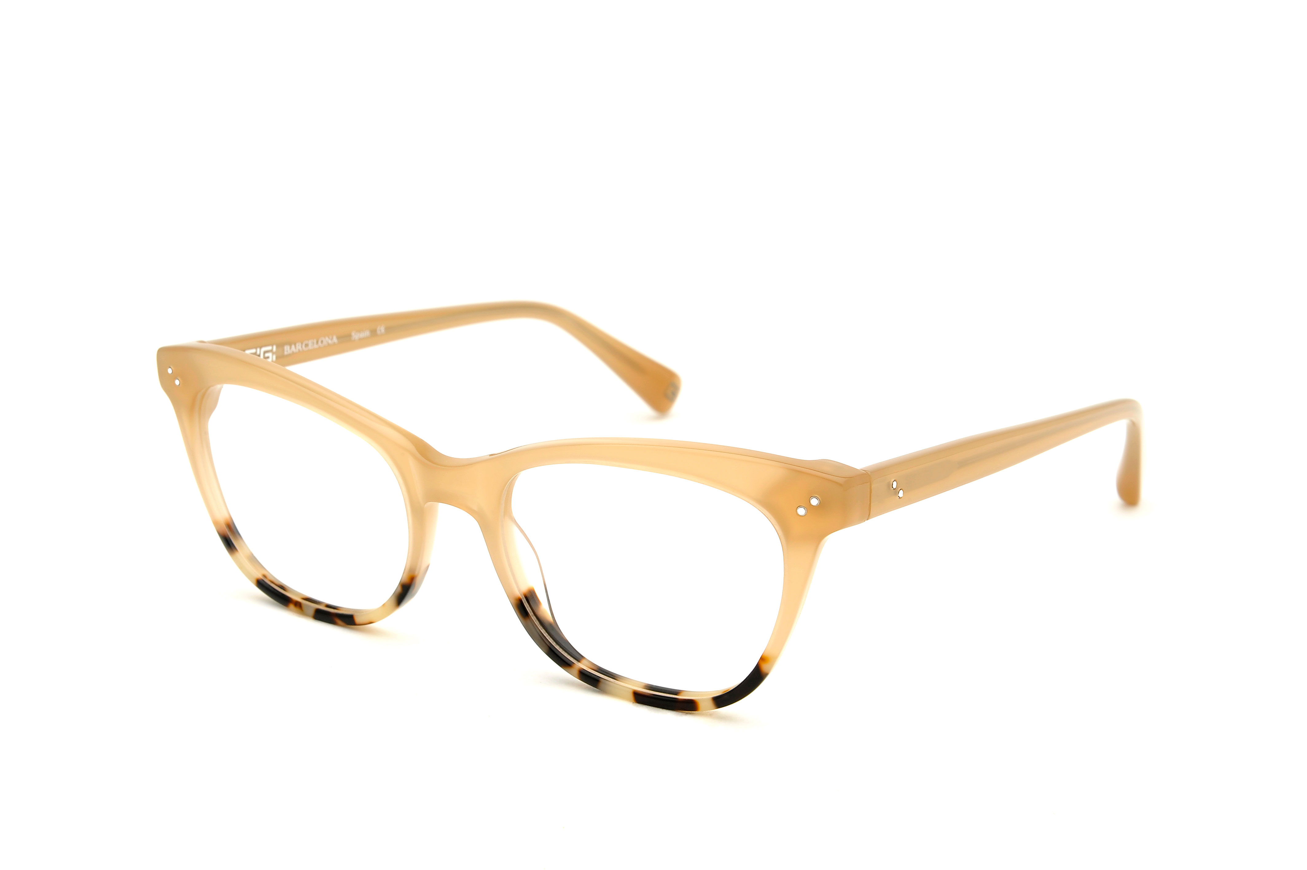 Chiara acetate cat eye brown sunglasses by GIGI Studios