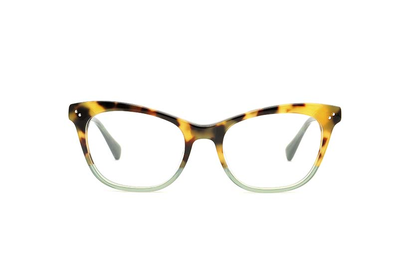 Chiara acetate cat eye green sunglasses by GIGI Studios