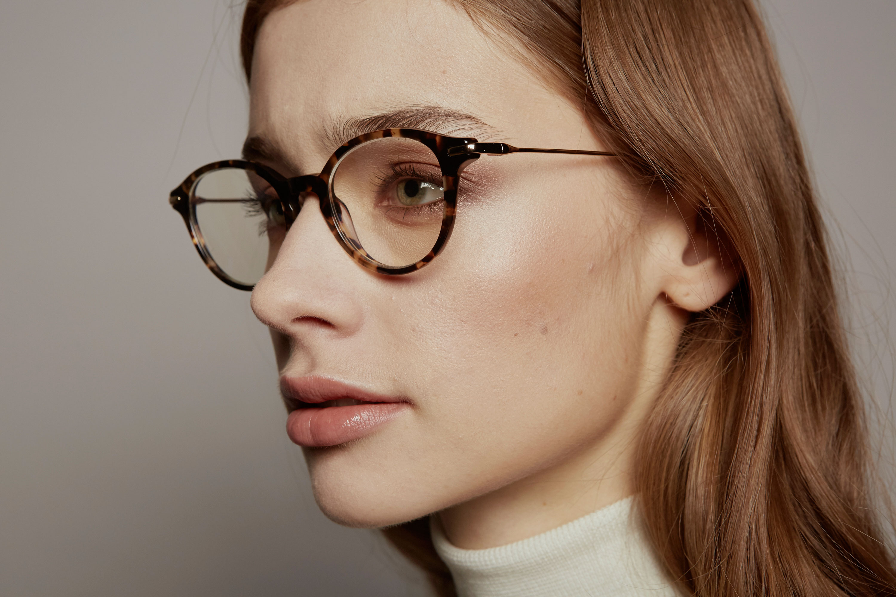 Amsterdam acetate rounded brown sunglasses by GIGI Studios