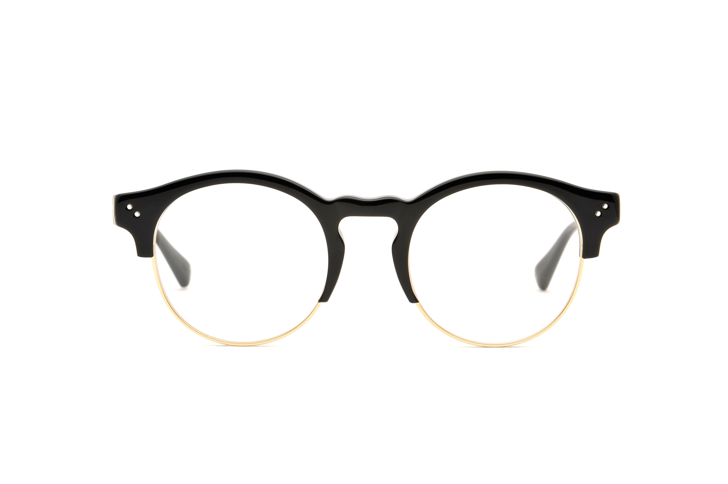 River acetate/metal rounded black sunglasses by GIGI Studios