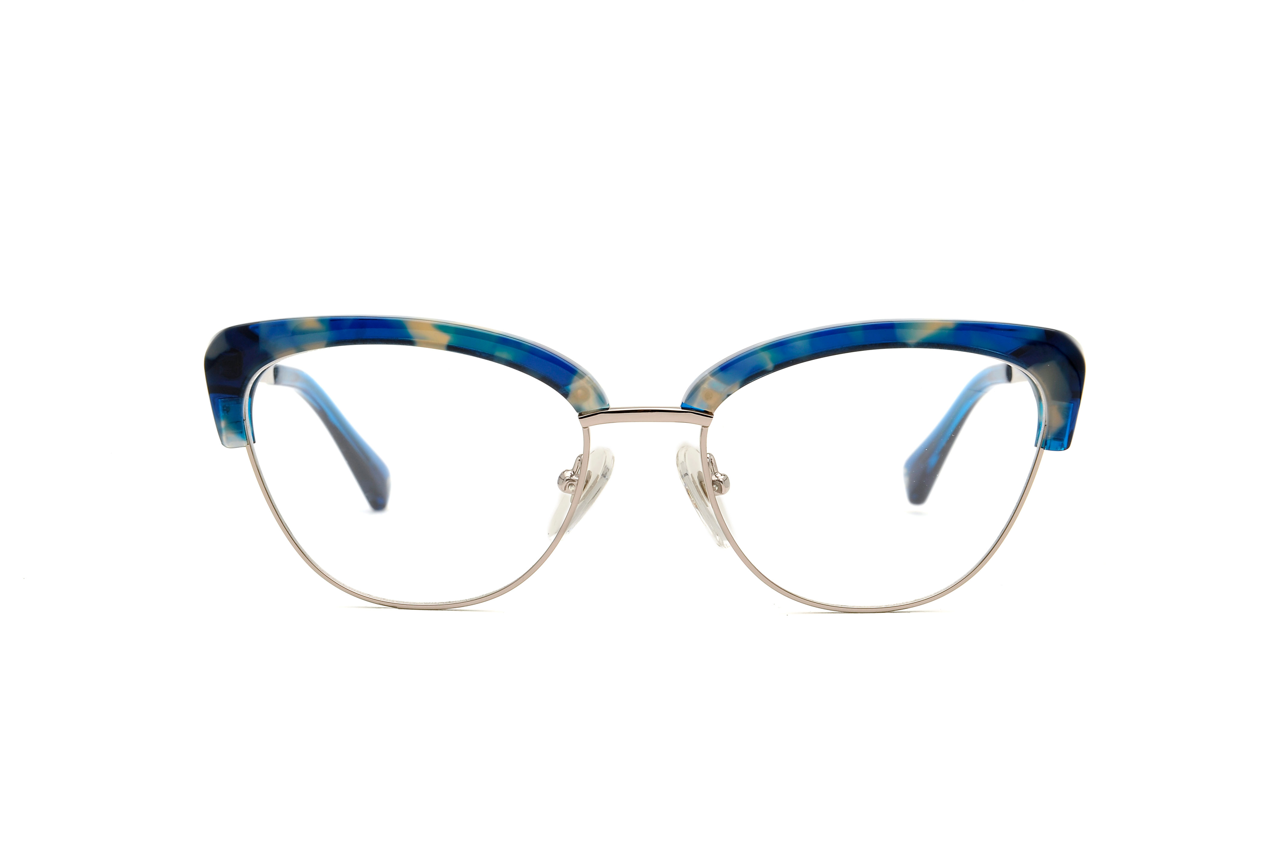 September acetate/metal cat eye blue sunglasses by GIGI Studios