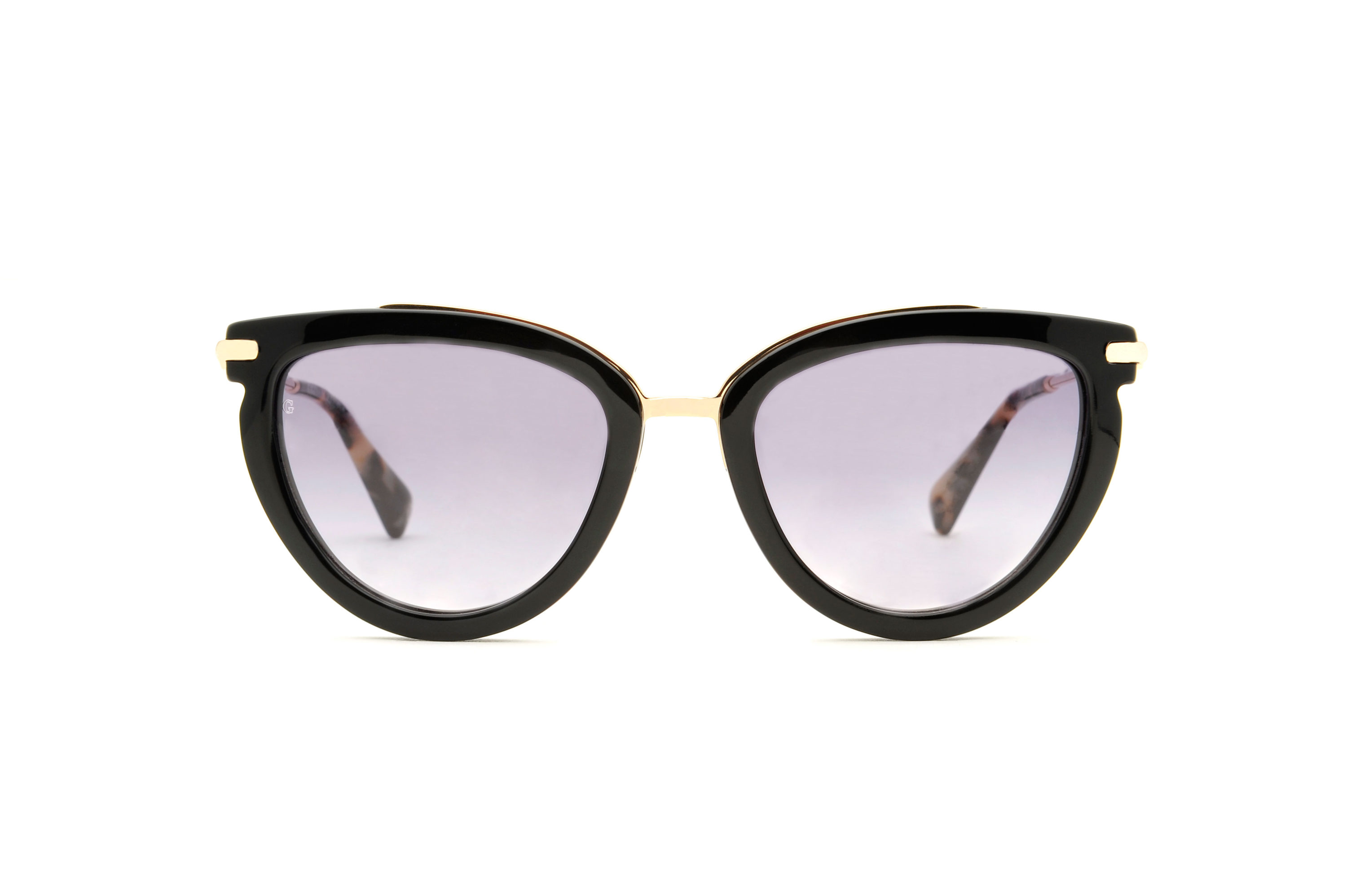 Luzia acetate/metal cat eye tortoise sunglasses by GIGI Studios