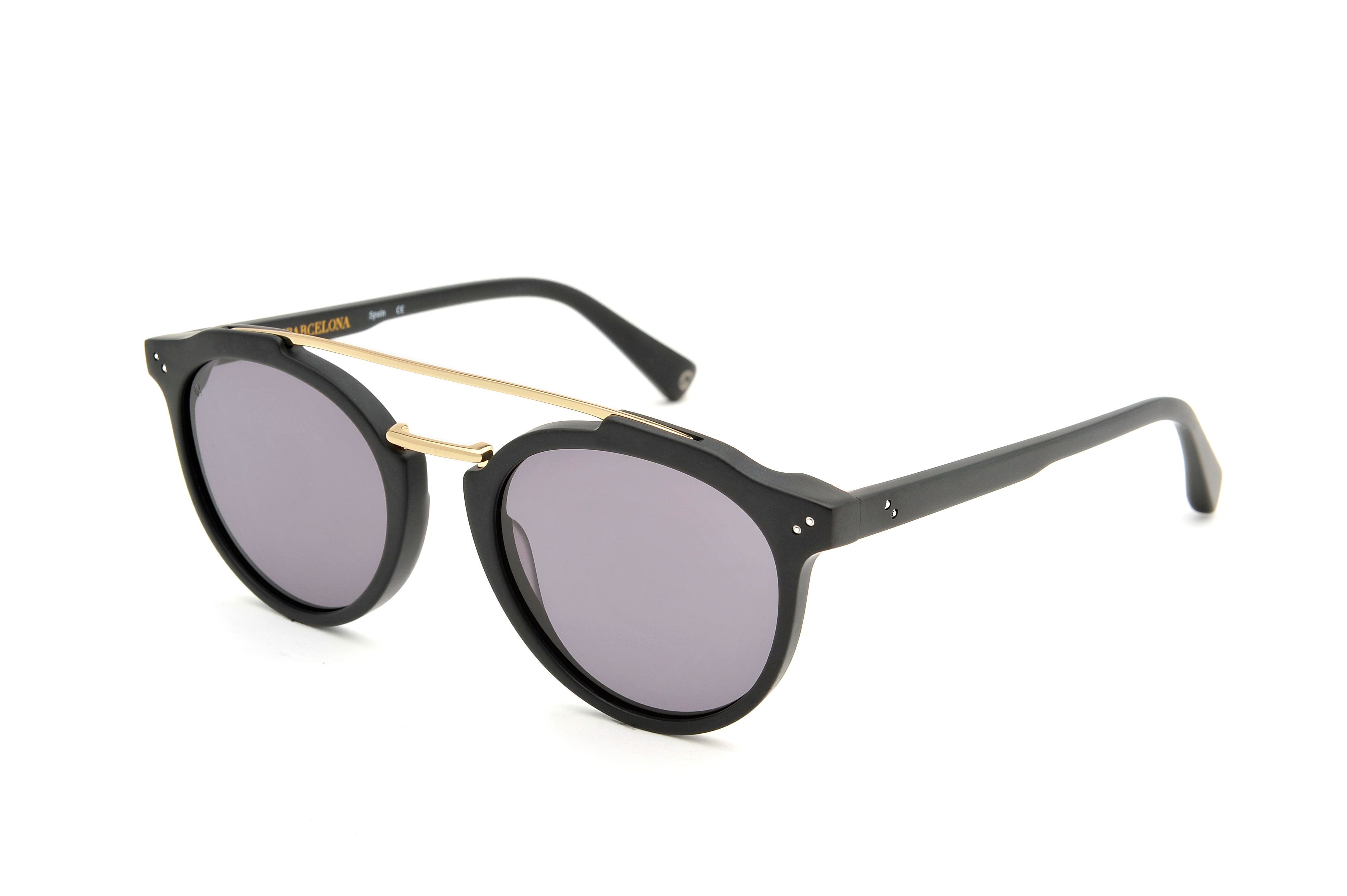 Voyage acetate/metal aviator black sunglasses by GIGI Studios