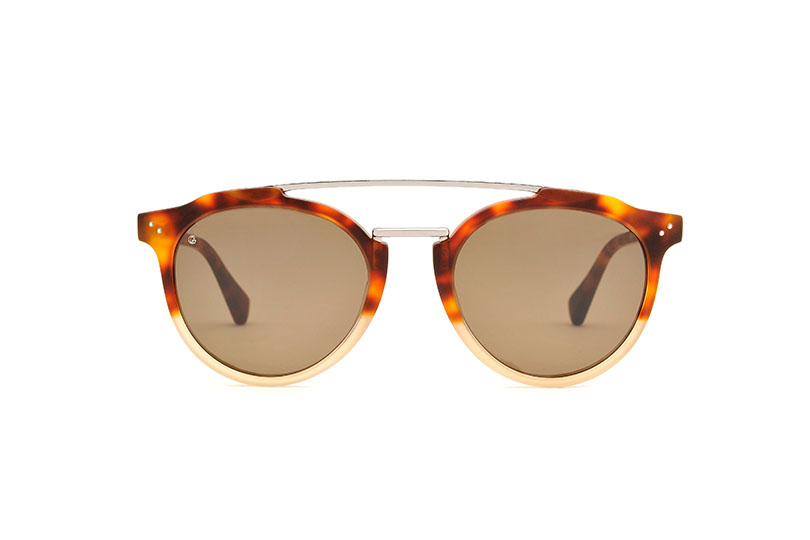 Voyage acetate/metal aviator tortoise sunglasses by GIGI Studios