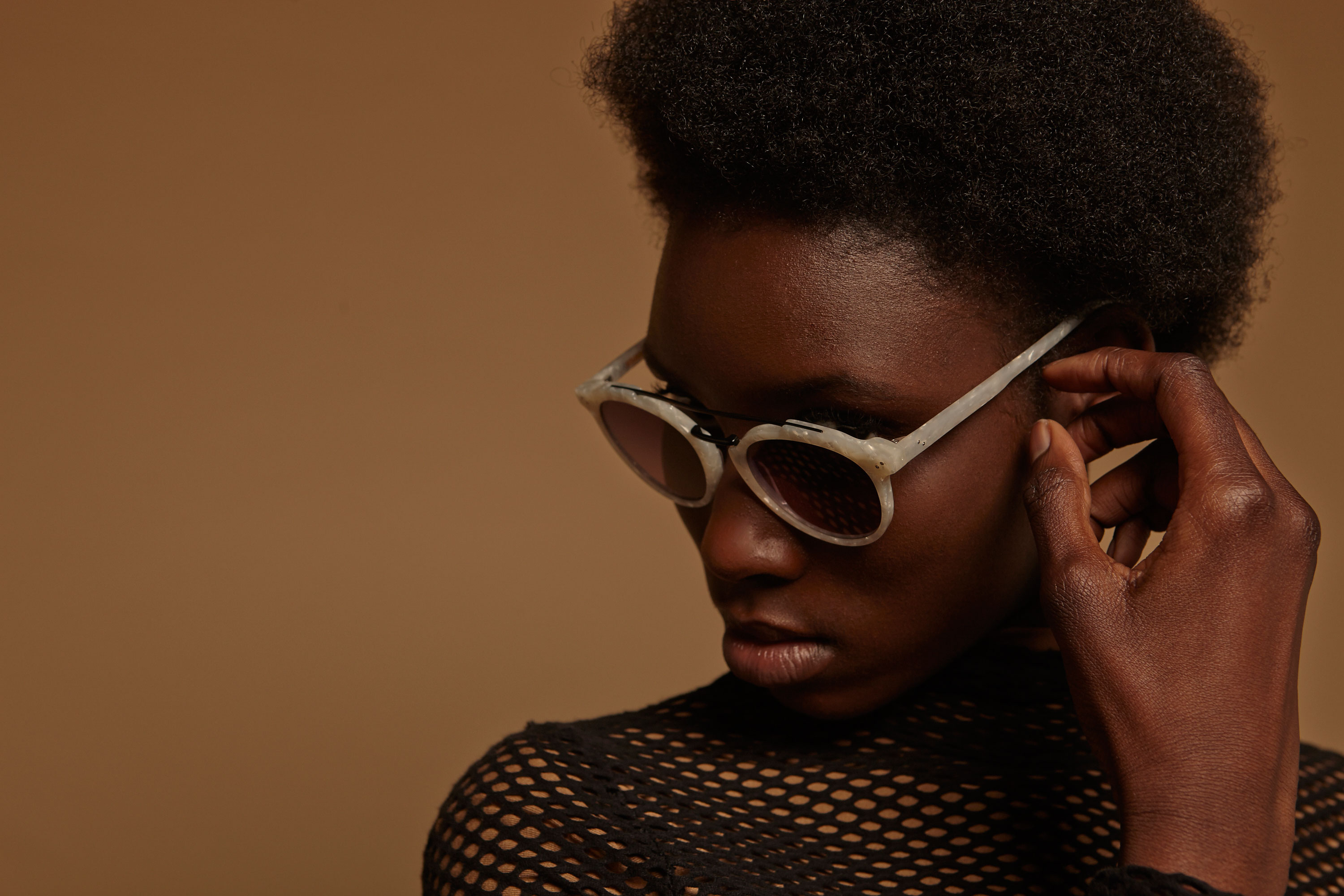 Voyage stainless steel rounded gun sunglasses by GIGI Studios
