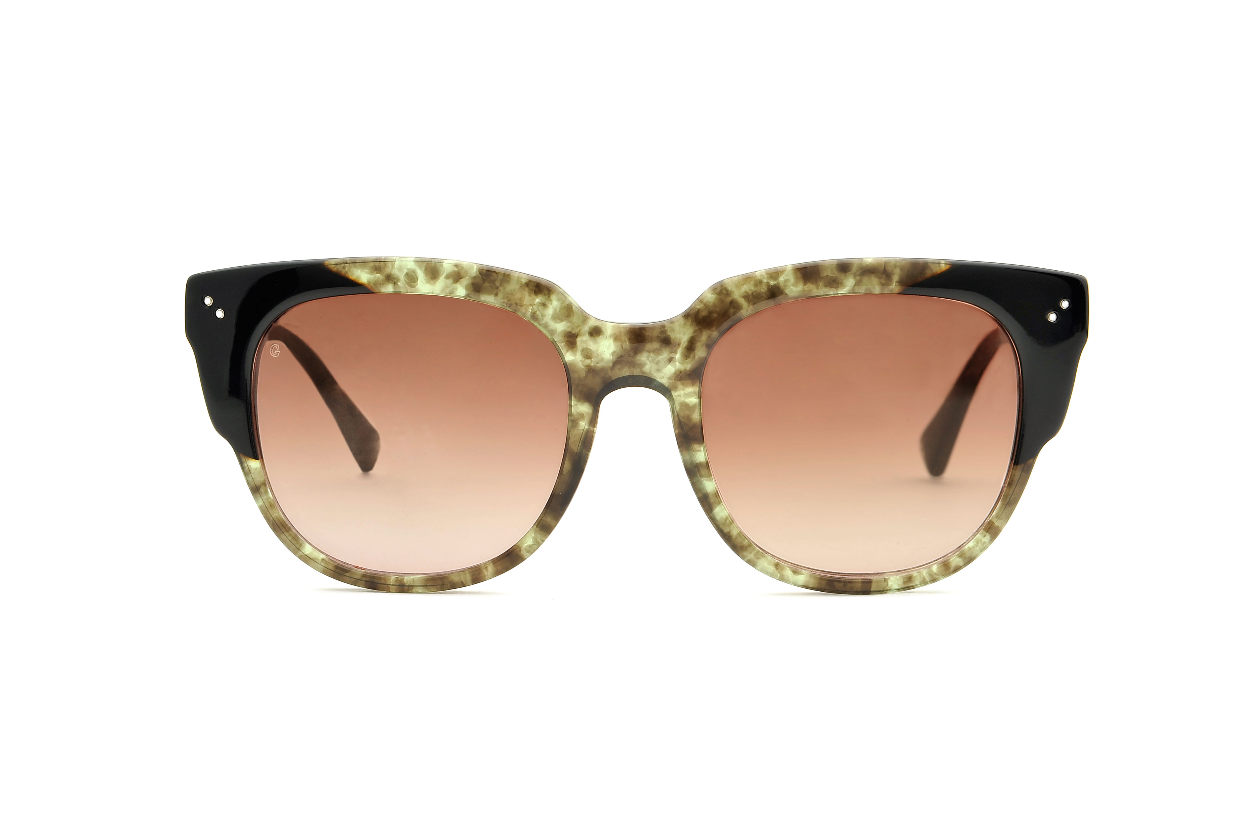 Lily acetate squared green sunglasses by GIGI Studios