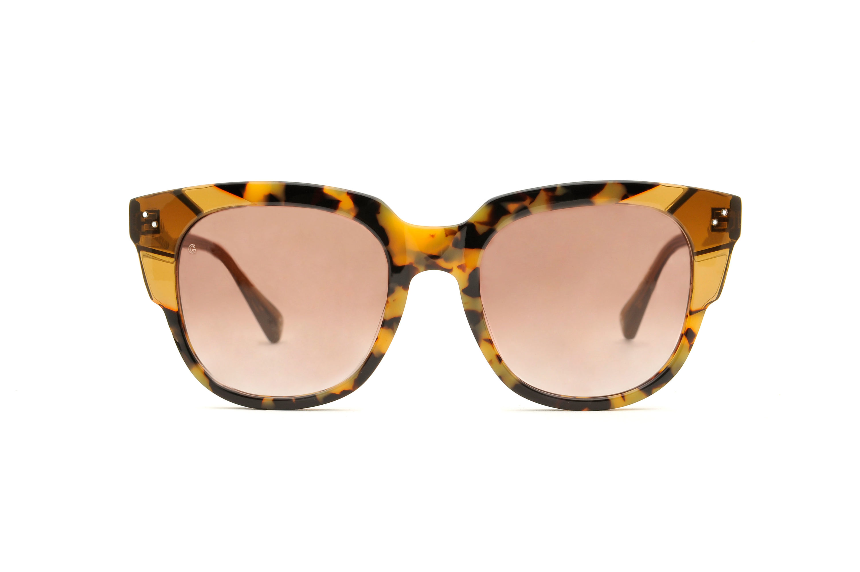 Lily acetate squared tortoise sunglasses by GIGI Studios