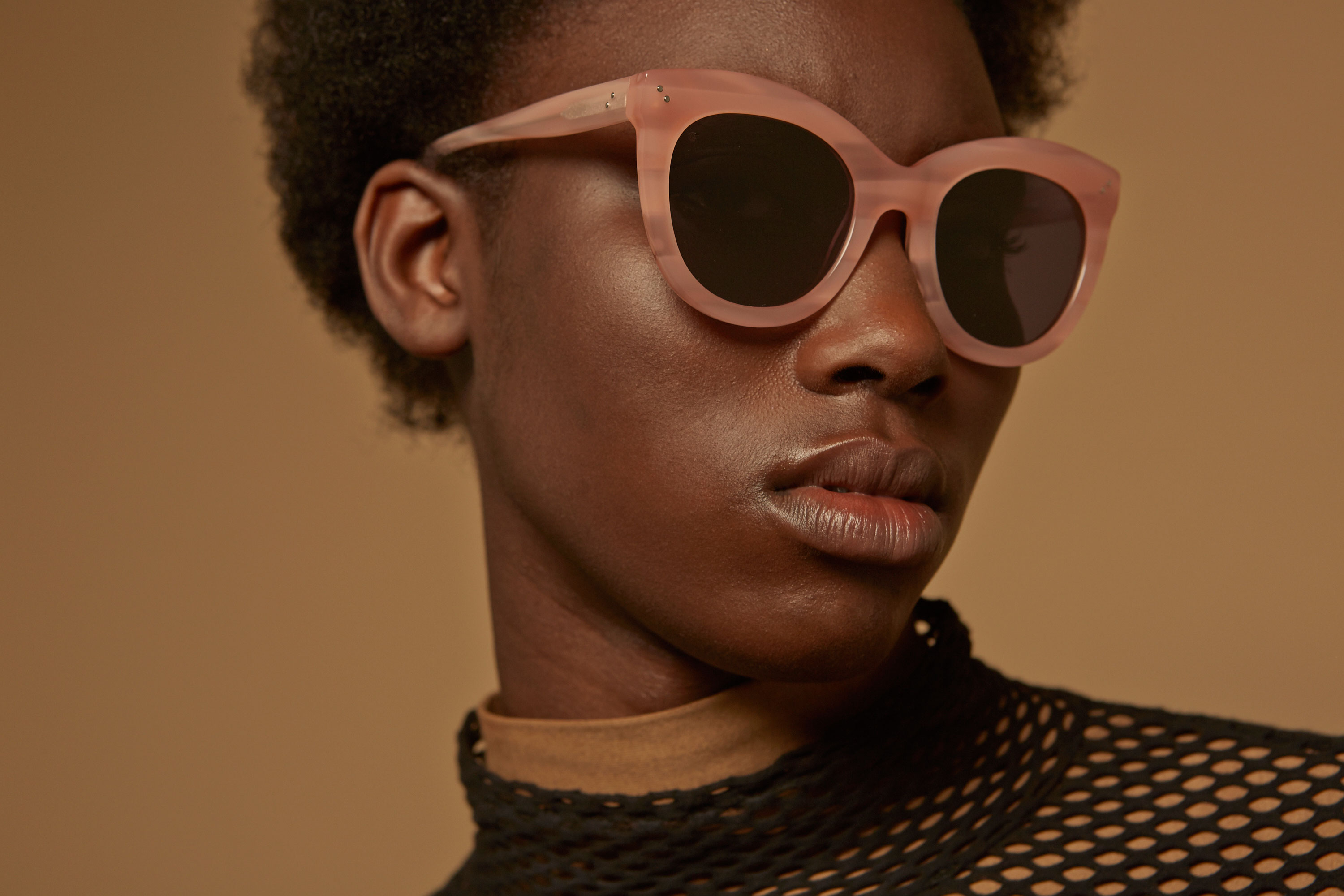 Angel acetate cat eye pink sunglasses by GIGI Studios