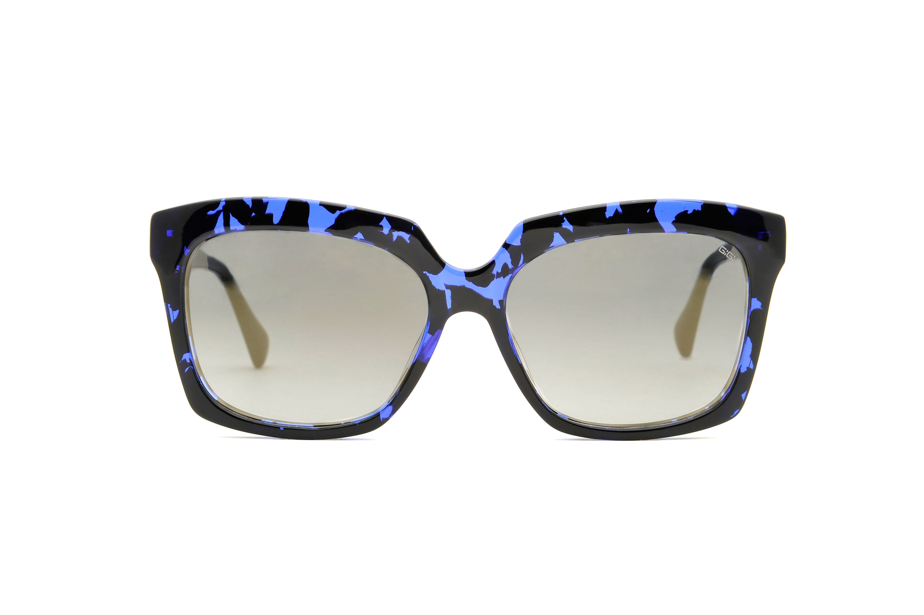 Bella acetate squared blue sunglasses by GIGI Studios