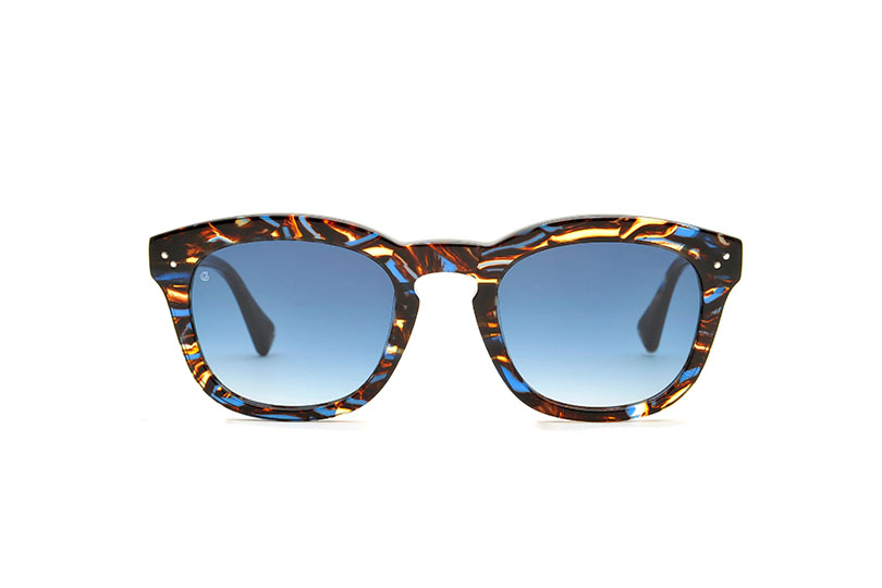 Young acetate squared blue sunglasses by GIGI Studios