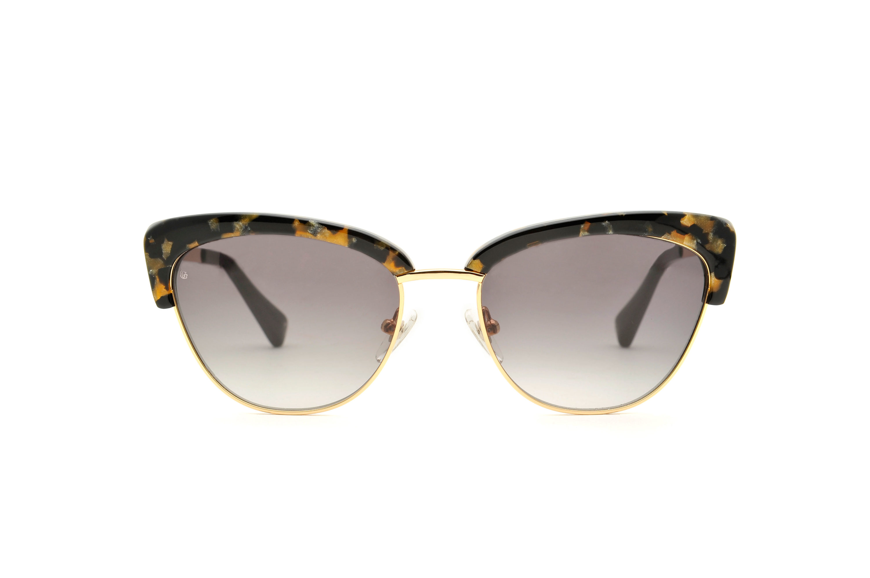 Grace acetate/metal cat eye tortoise sunglasses by GIGI Studios