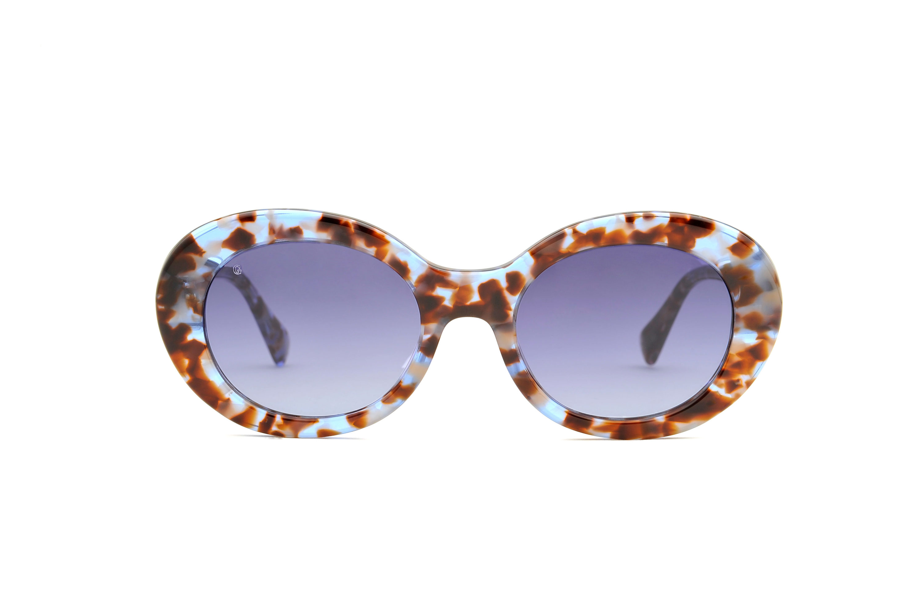 Nika acetate rounded blue sunglasses by GIGI Studios