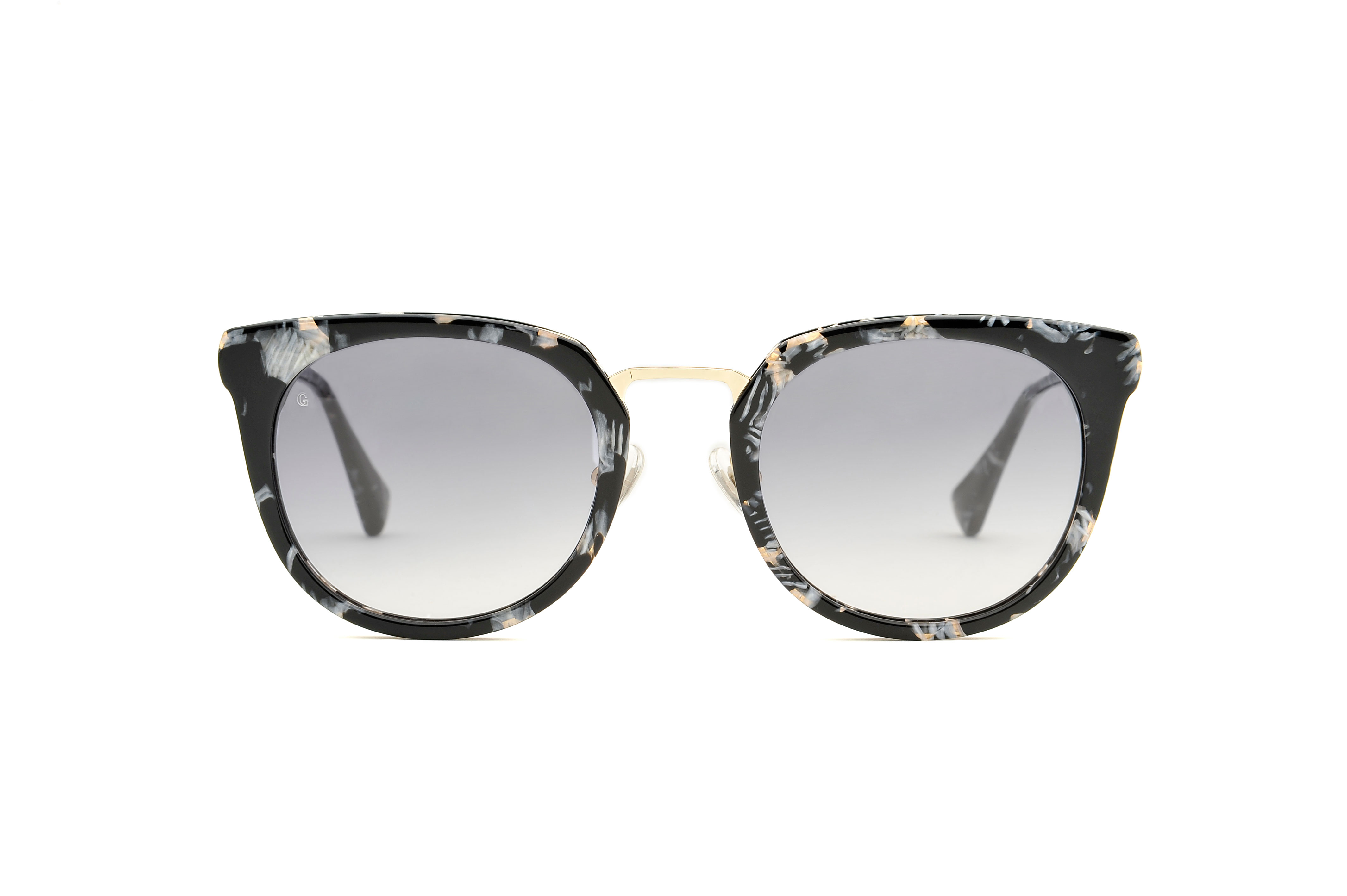 Alia acetate/metal squared grey sunglasses by GIGI Studios