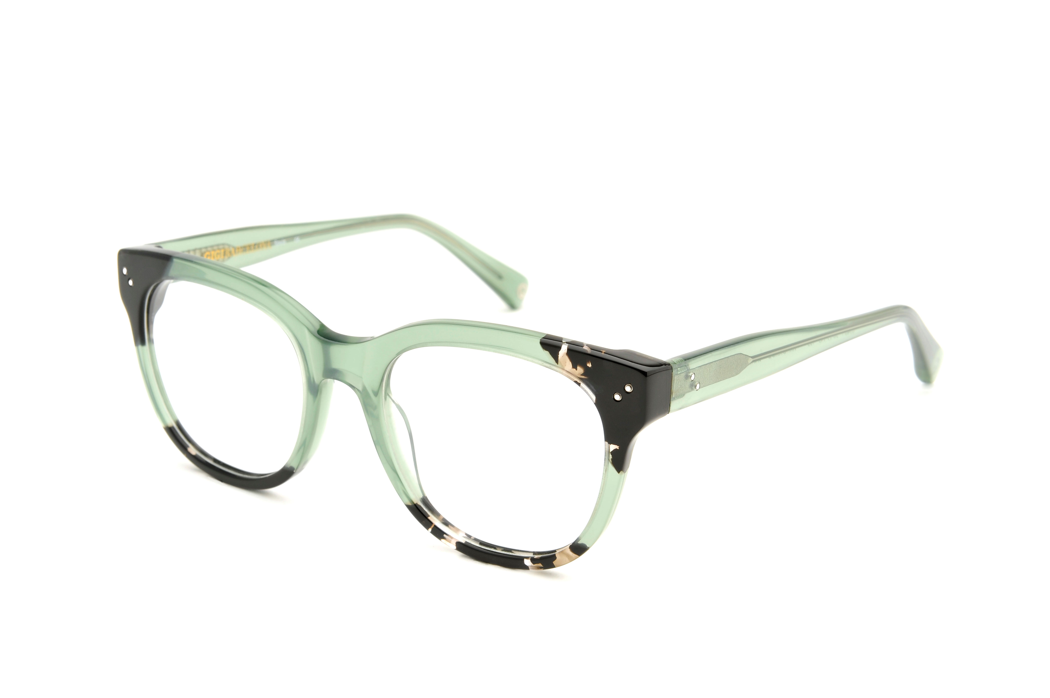 Janis acetate squared green sunglasses by GIGI Studios