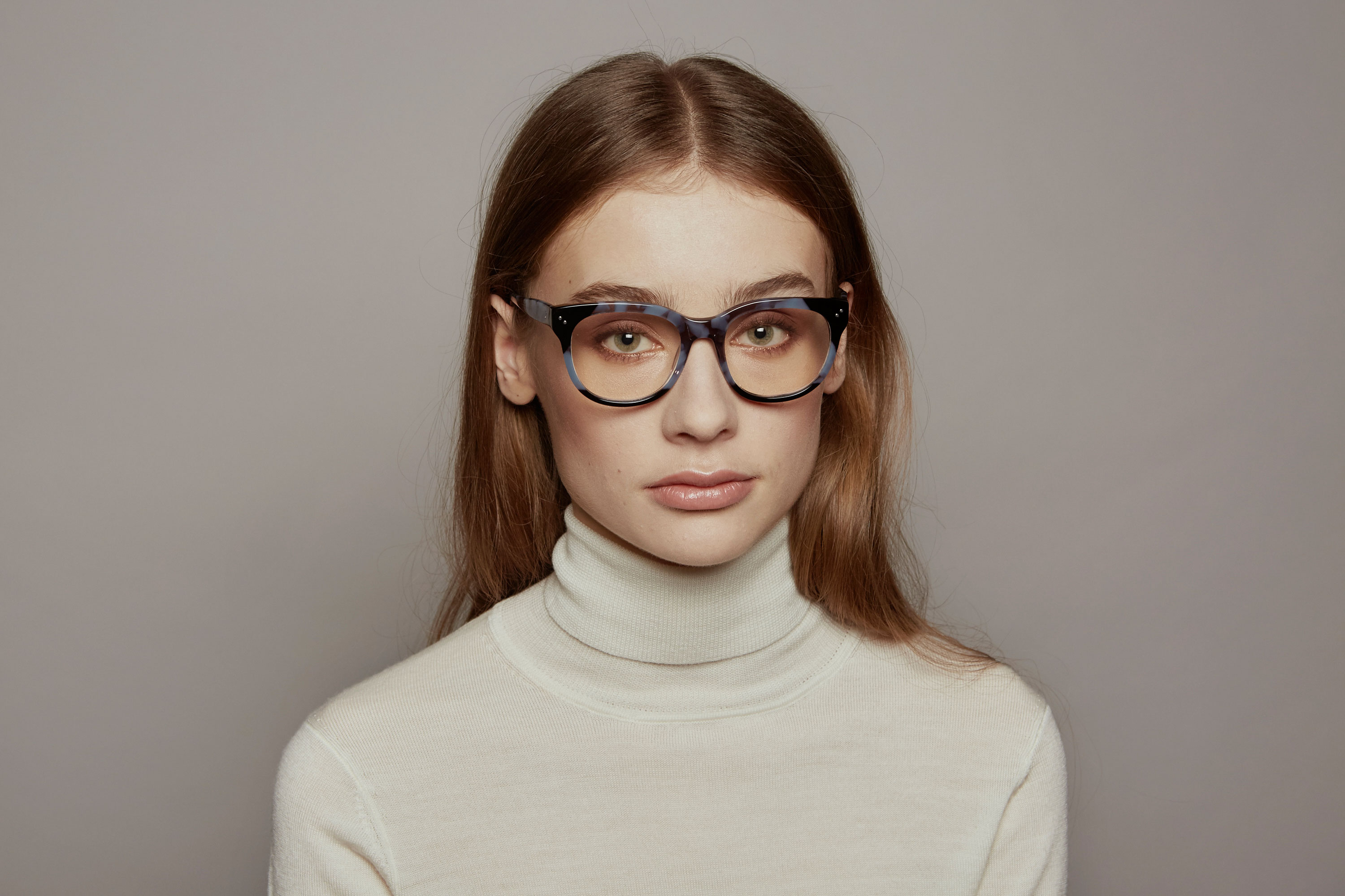 Janis acetate squared grey sunglasses by GIGI Studios