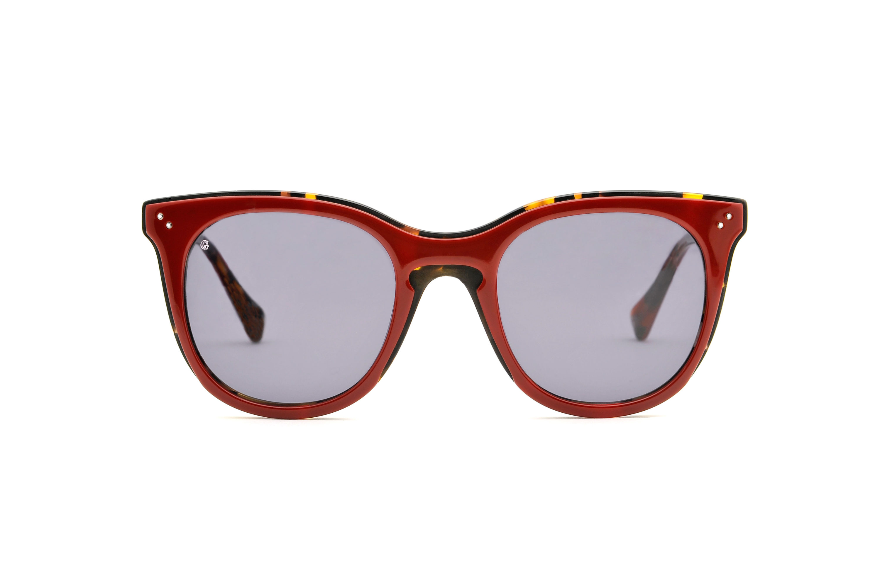 Nathalie acetate cat eye red sunglasses by GIGI Studios