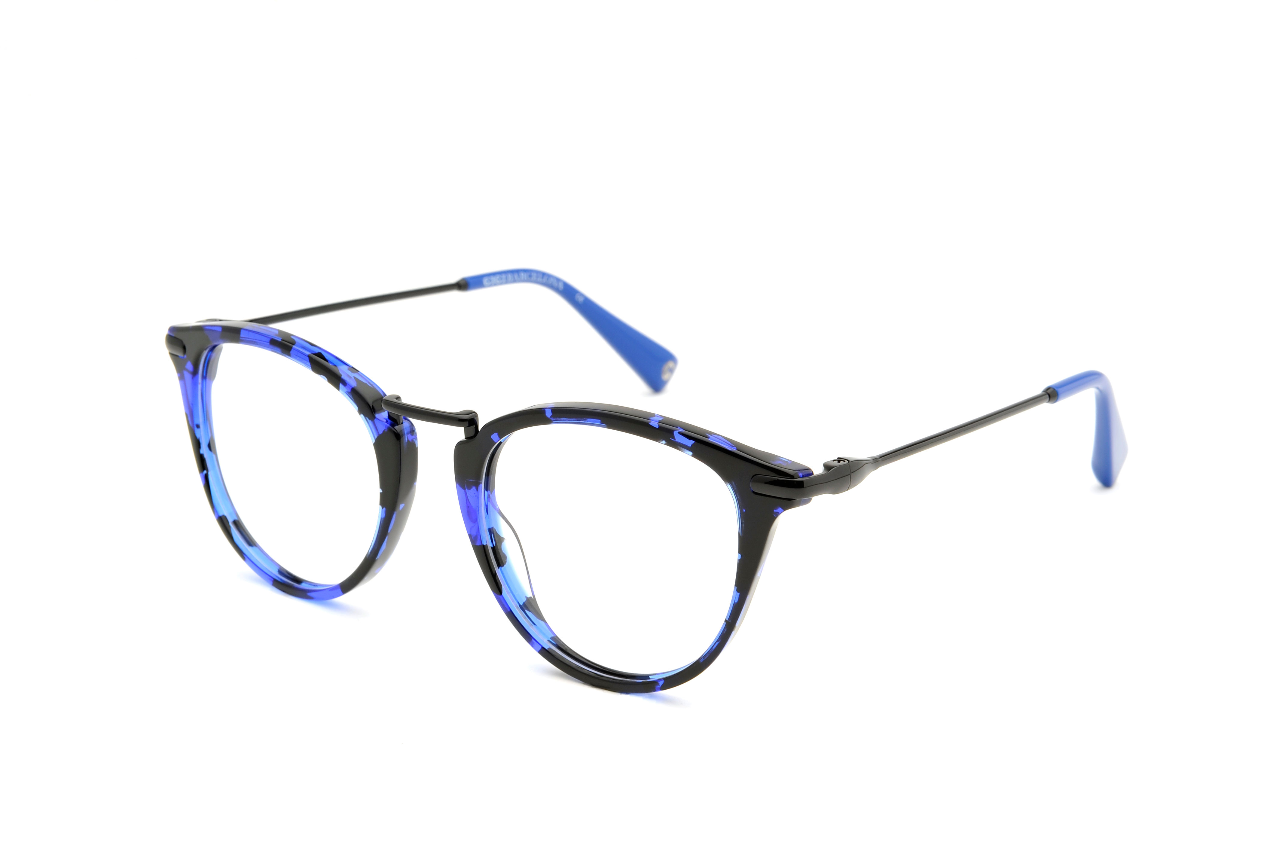 Jazz acetate/metal rounded blue sunglasses by GIGI Studios