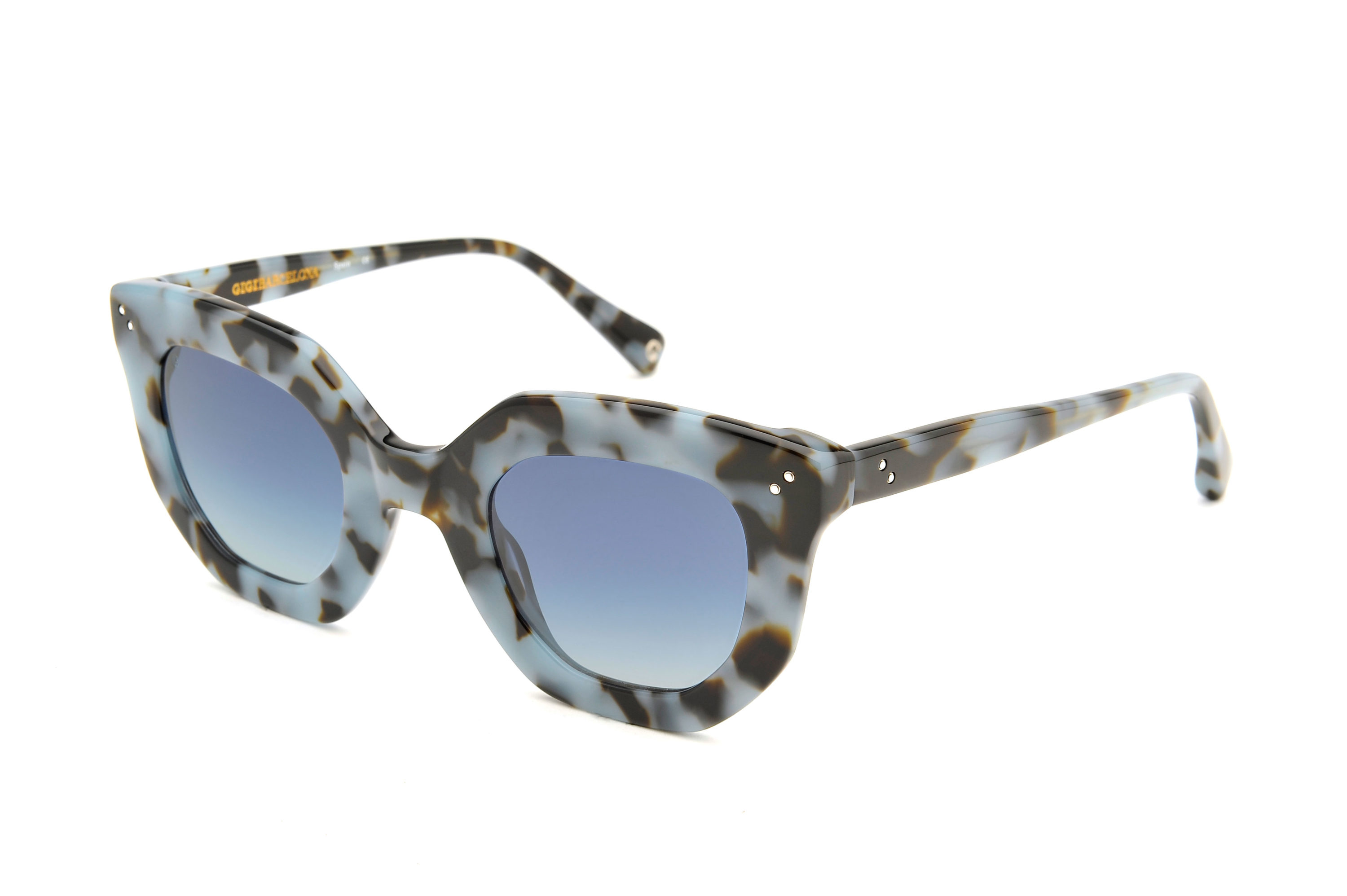 Juliette acetate cat eye grey sunglasses by GIGI Studios