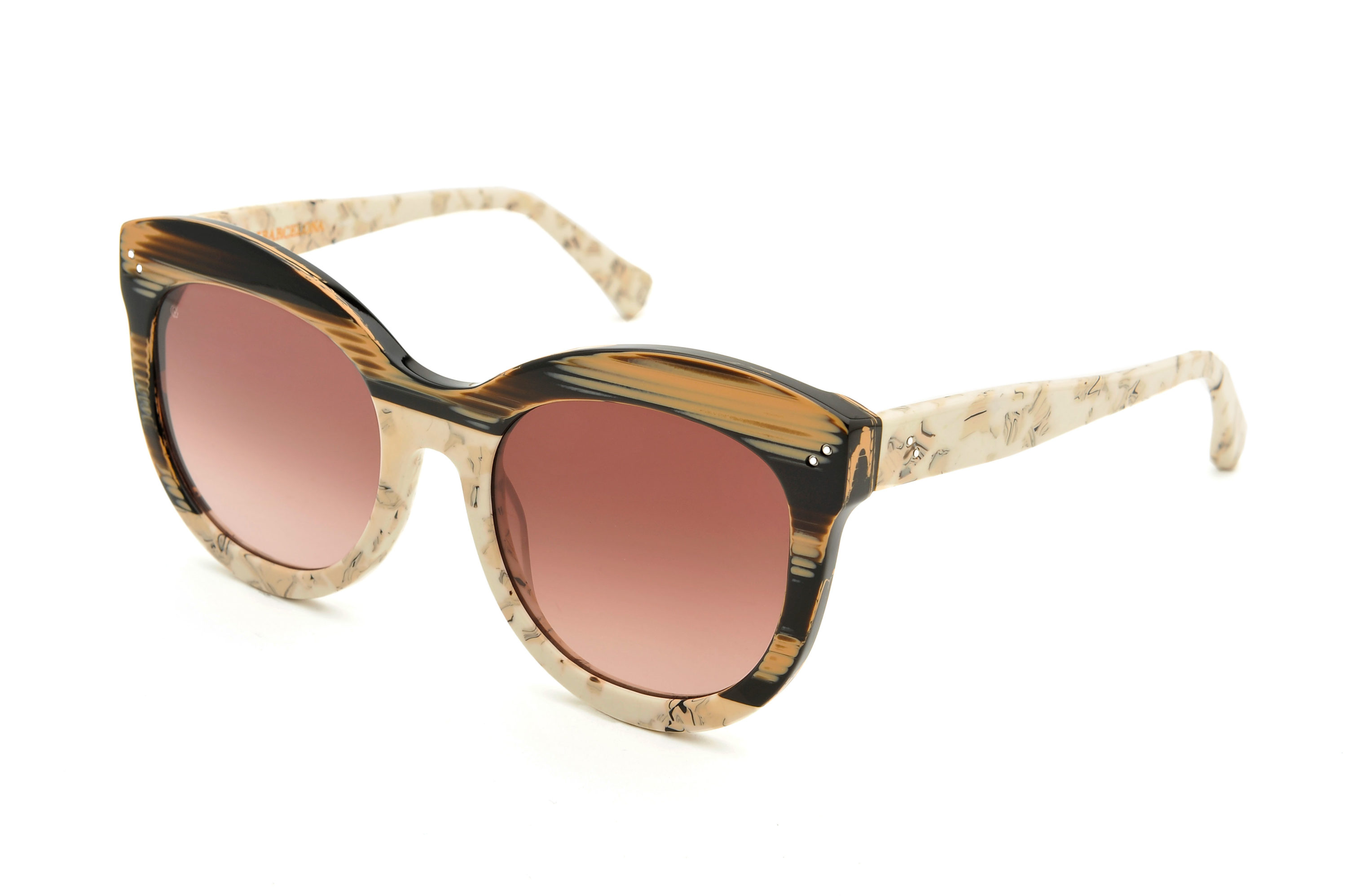 Candy acetate cat eye brown sunglasses by GIGI Studios