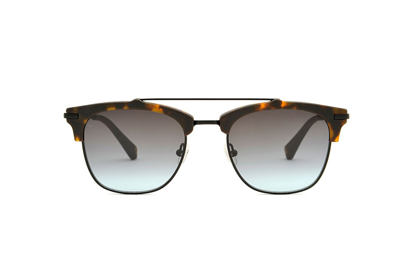Jupiter acetate/metal aviator tortoise sunglasses by GIGI Studios