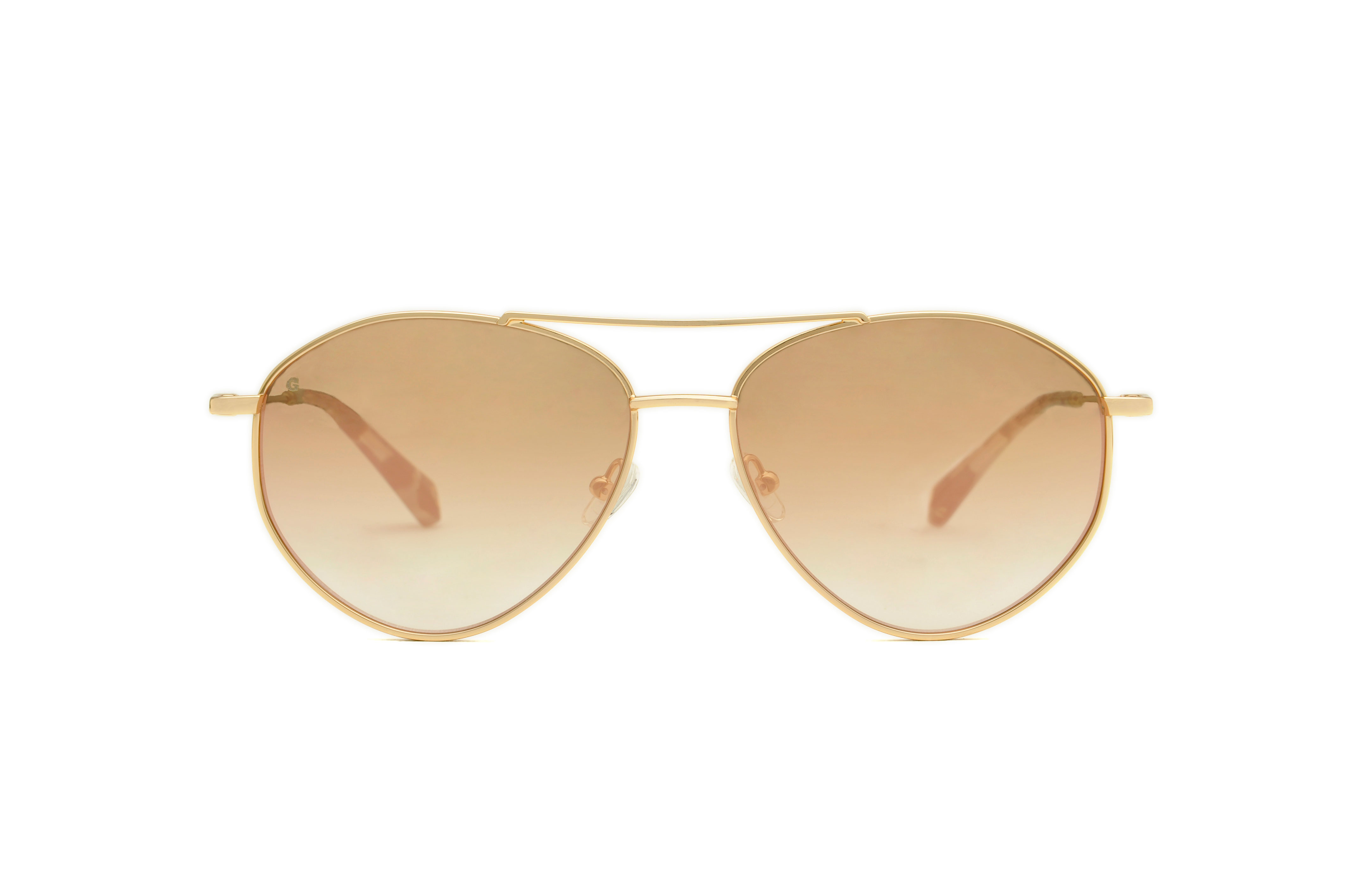 Metropolis metal aviator gold sunglasses by GIGI Studios