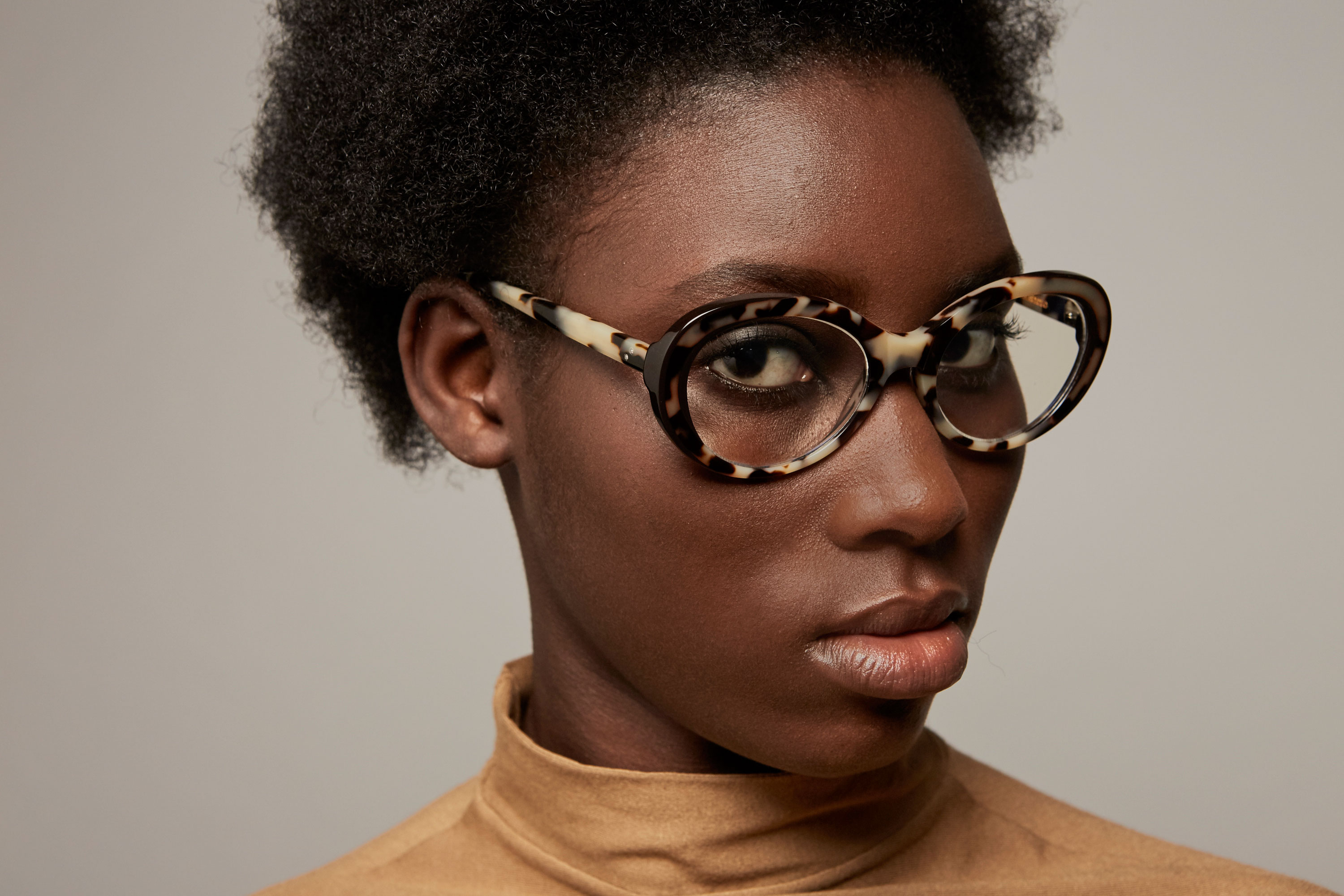 Nadine acetate rounded tortoise sunglasses by GIGI Studios