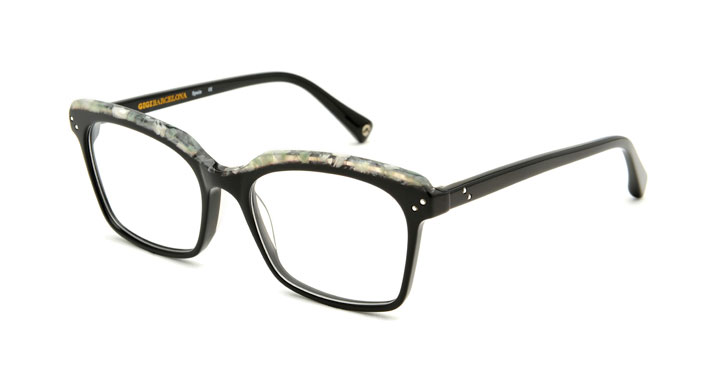 Gala acetate squared black sunglasses by GIGI Studios