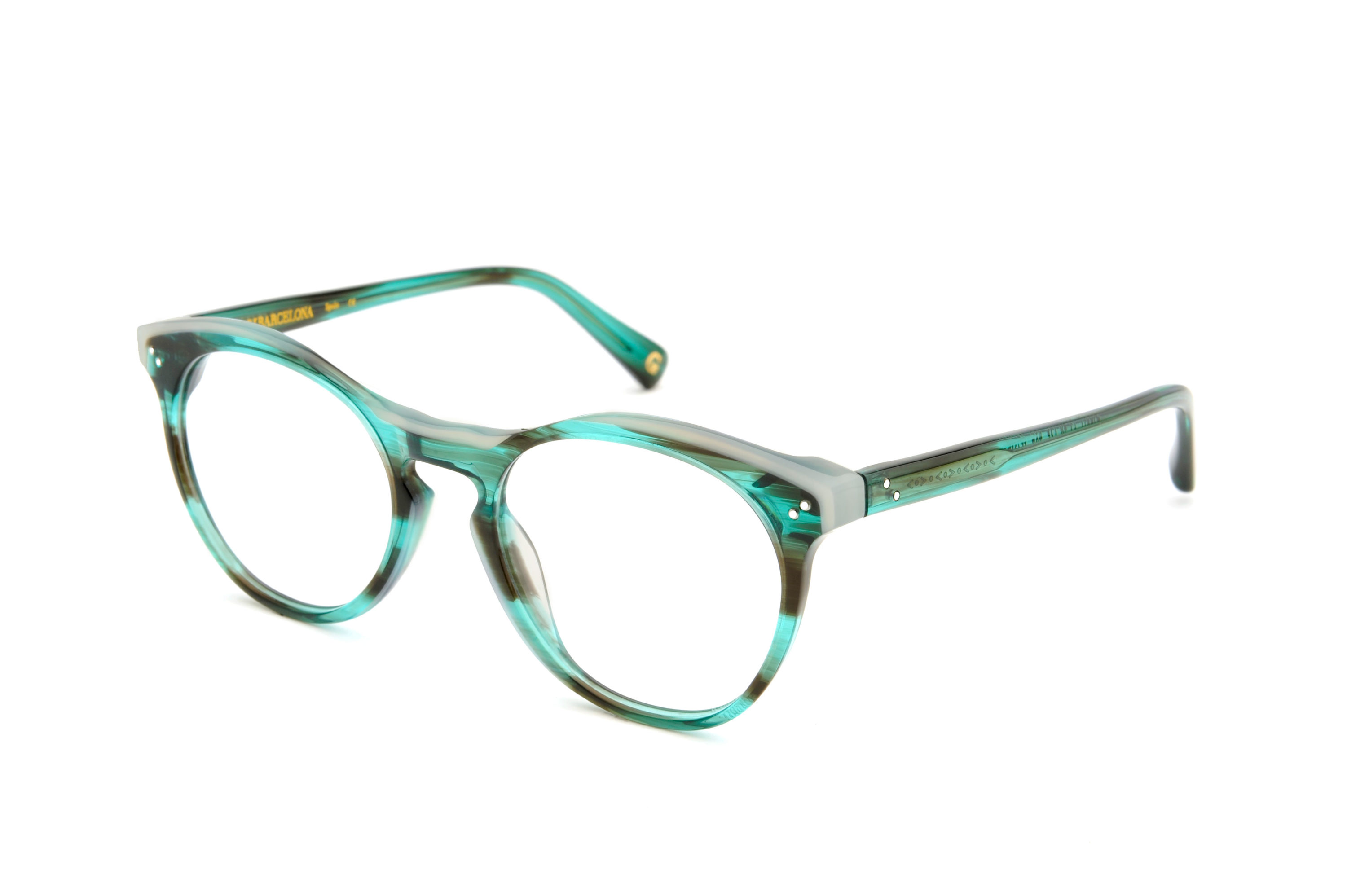 Shoreditch acetate rounded green sunglasses by GIGI Studios