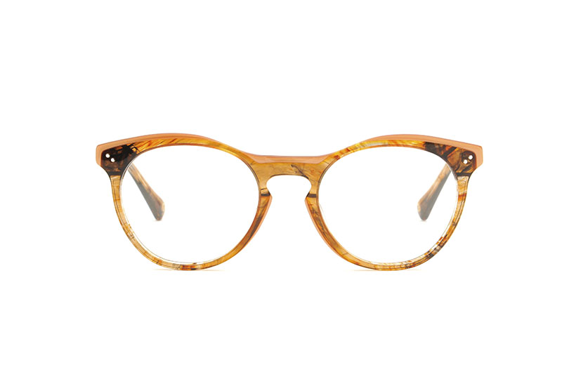 Shoreditch acetate rounded orange sunglasses by GIGI Studios