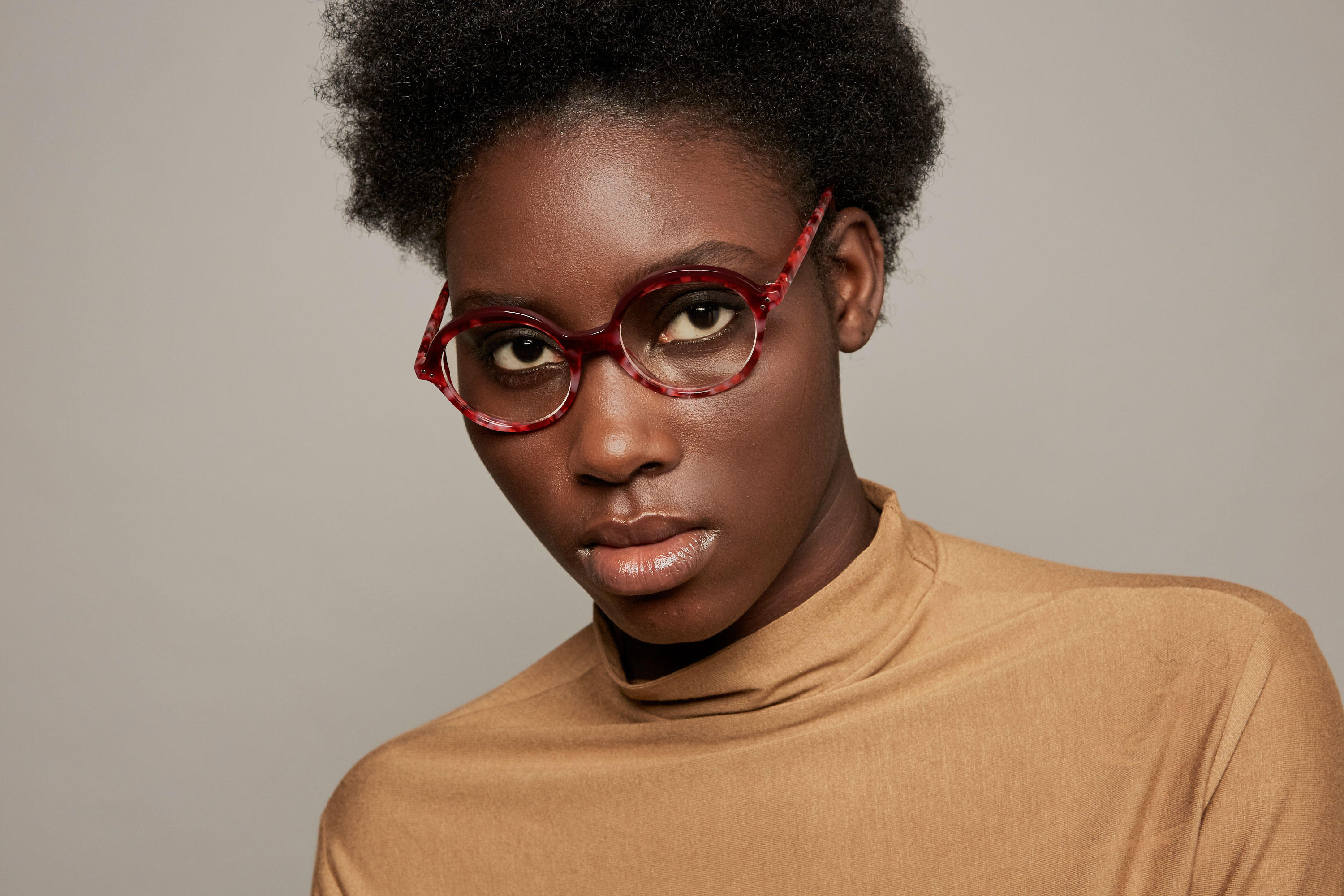 Dalston acetate rounded red sunglasses by GIGI Studios