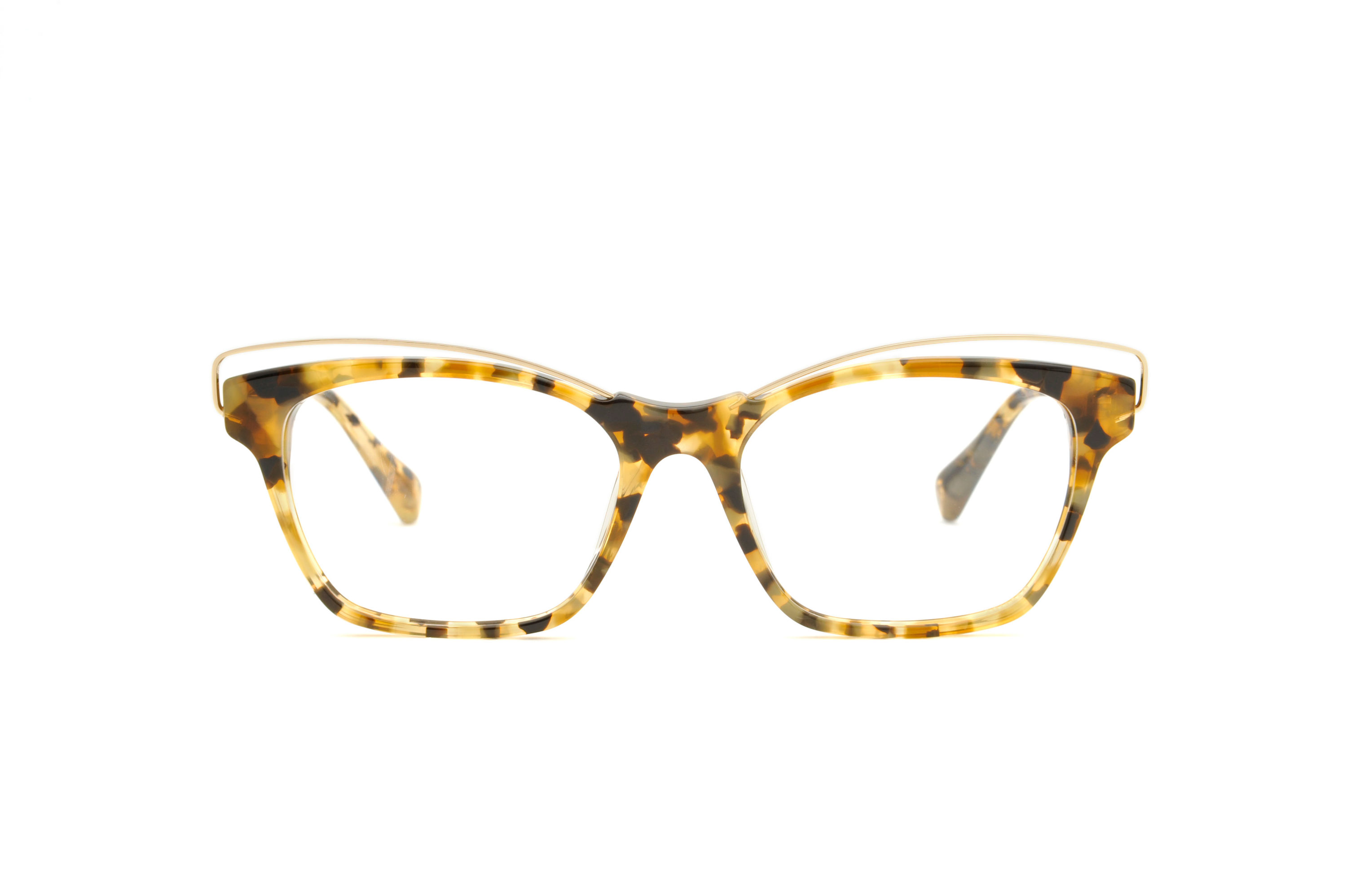 Martina acetate/metal cat eye tortoise sunglasses by GIGI Studios