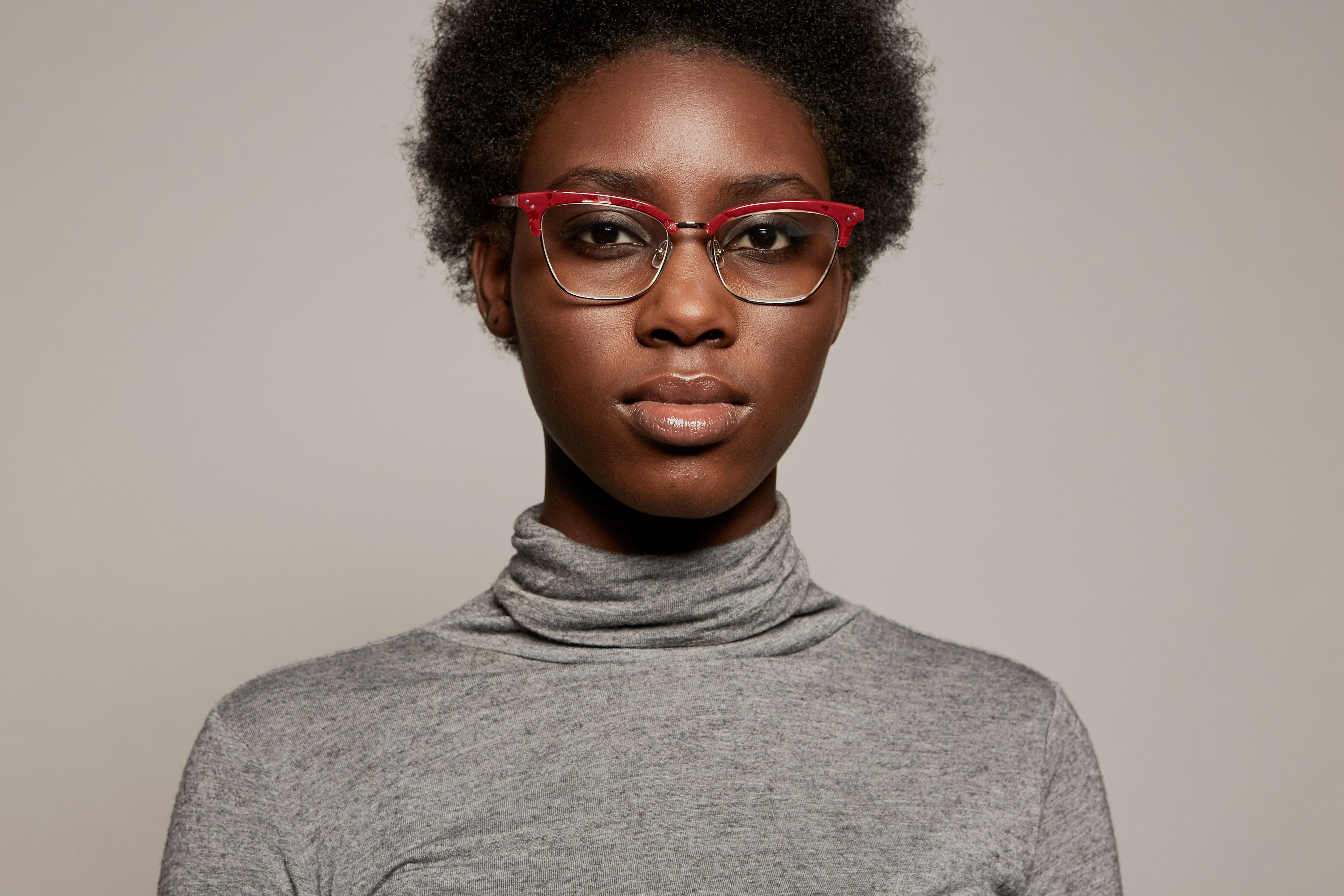 Nina acetate/metal cat eye red sunglasses by GIGI Studios