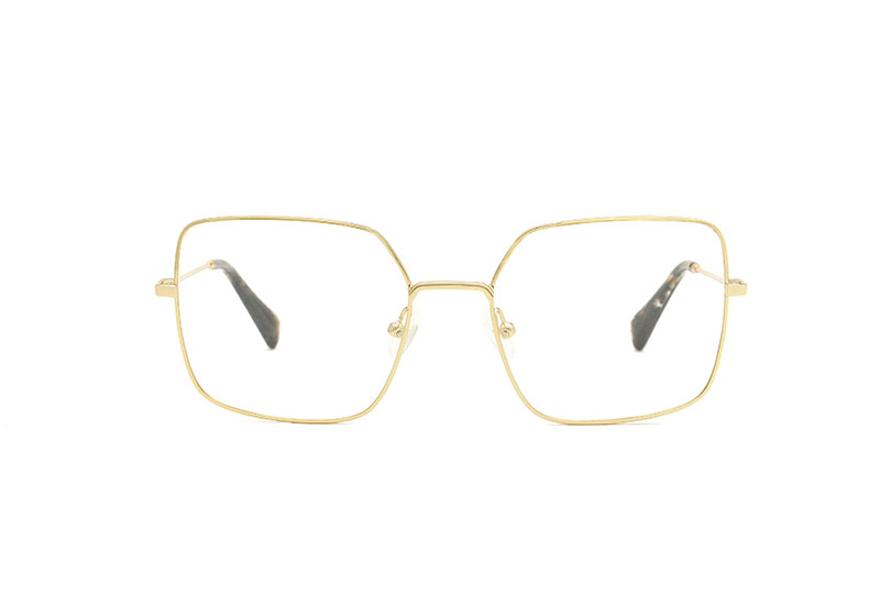 Nara metal squared gold sunglasses by GIGI Studios