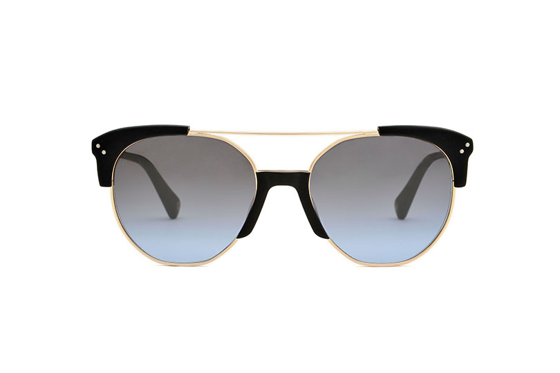 Brixton acetate/metal aviator black sunglasses by GIGI Studios
