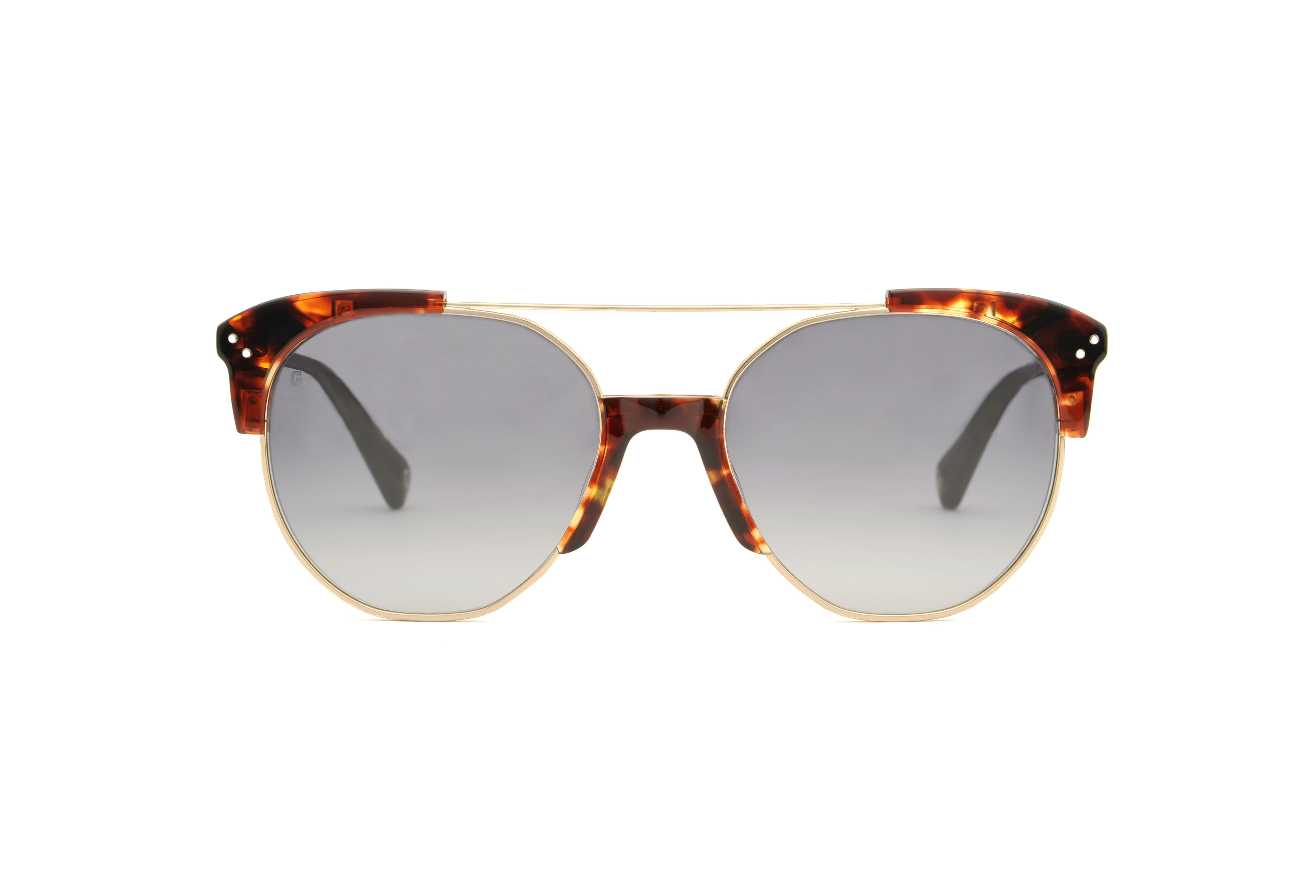 Brixton acetate/metal aviator tortoise sunglasses by GIGI Studios