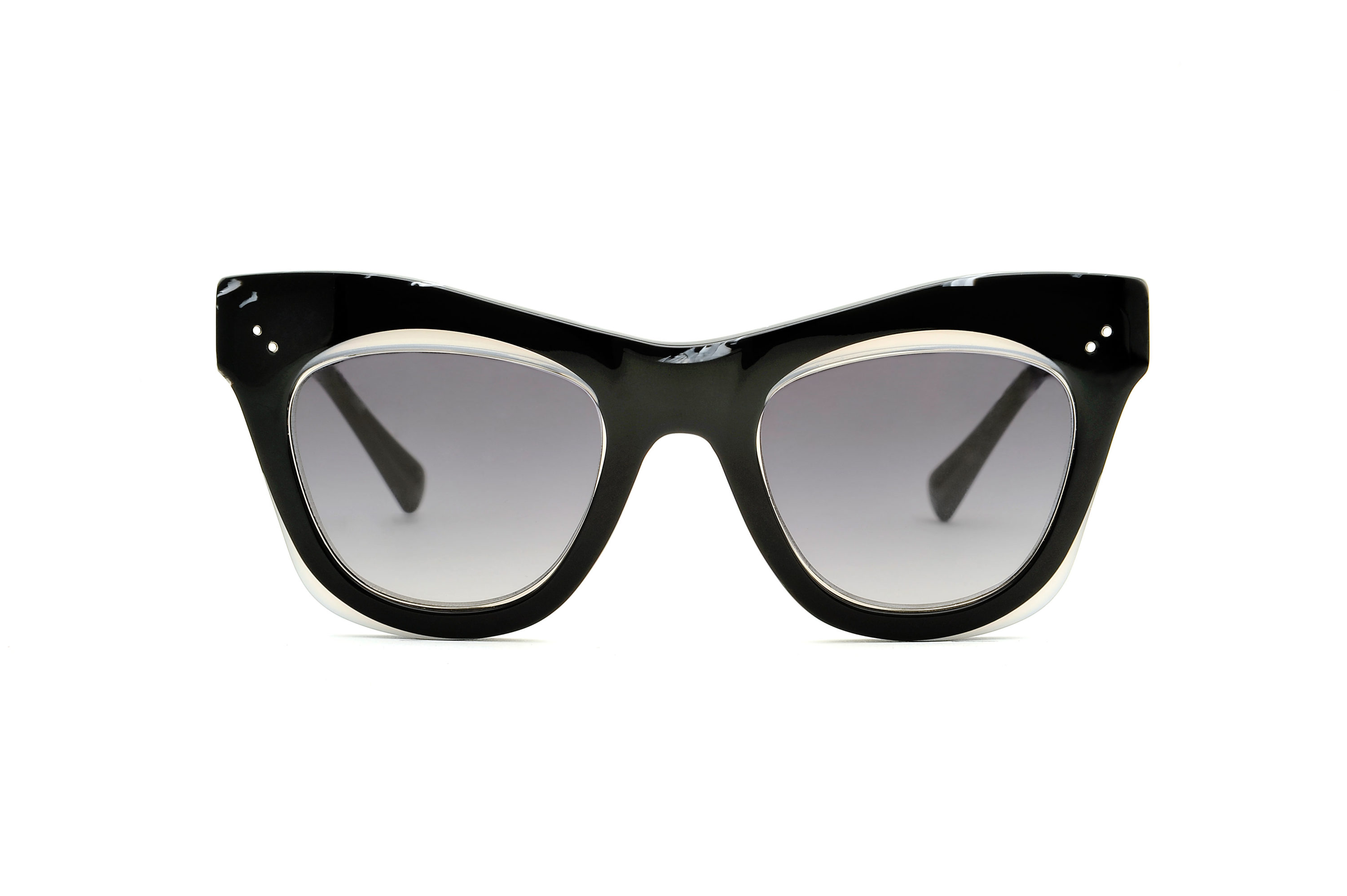 Onix acetate cat eye black sunglasses by GIGI Studios