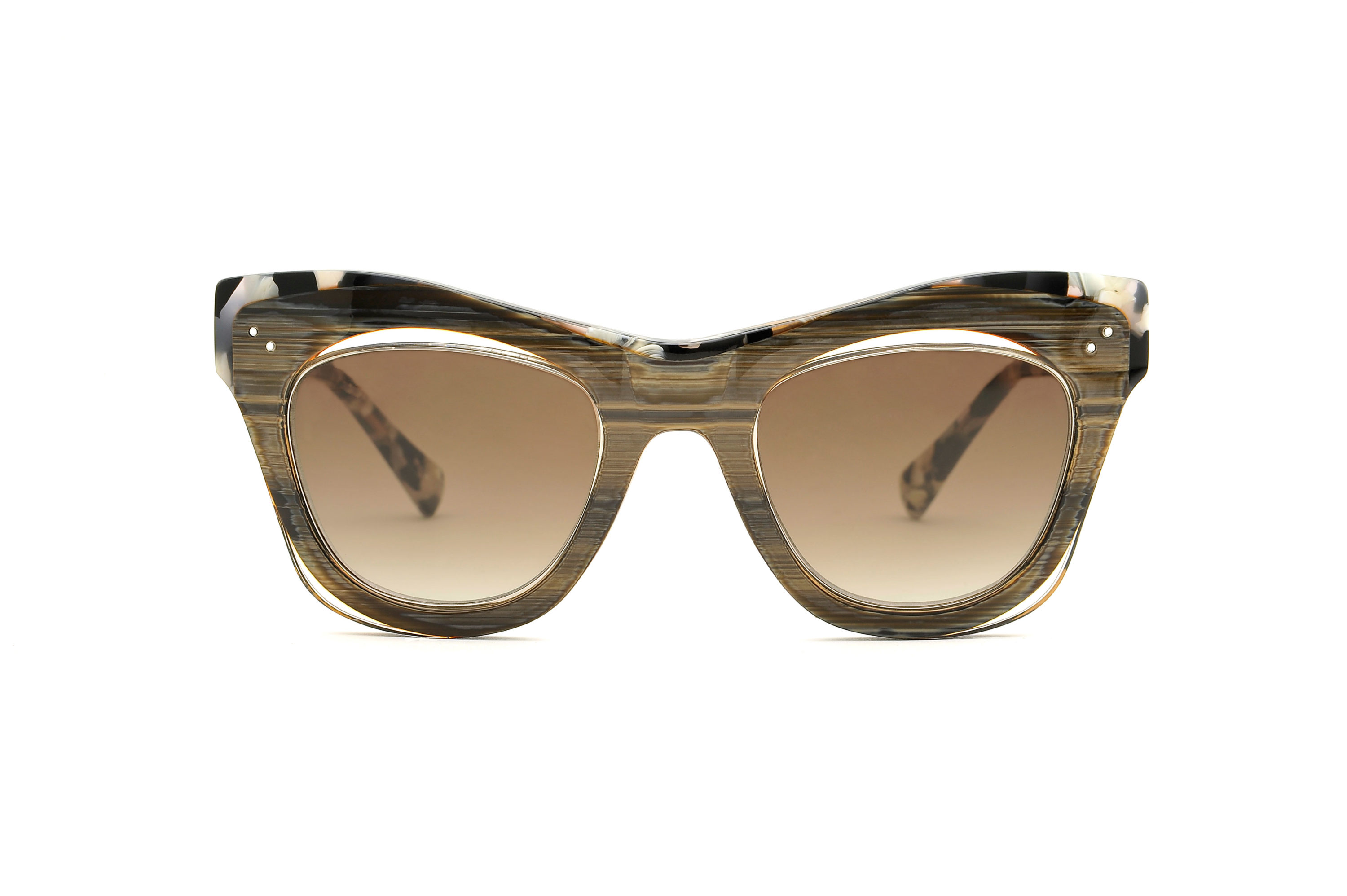 Onix acetate cat eye brown sunglasses by GIGI Studios
