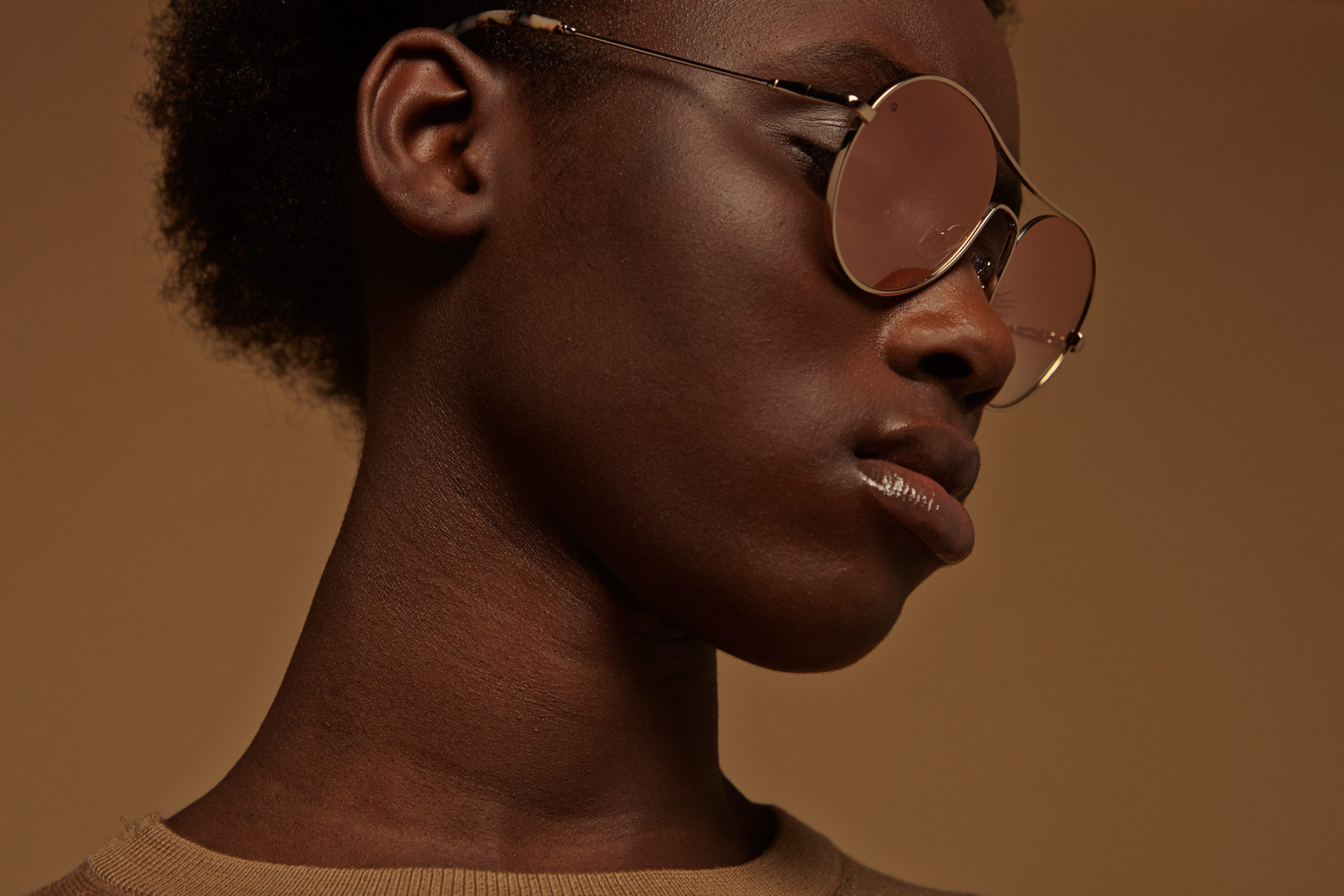 Away metal aviator gold sunglasses by GIGI Studios