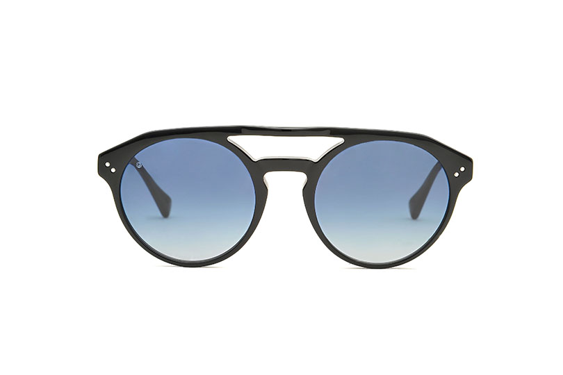 Kusama acetate aviator black sunglasses by GIGI Studios