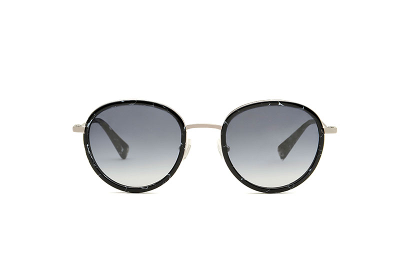 Pixie acetate/metal rounded black sunglasses by GIGI Studios