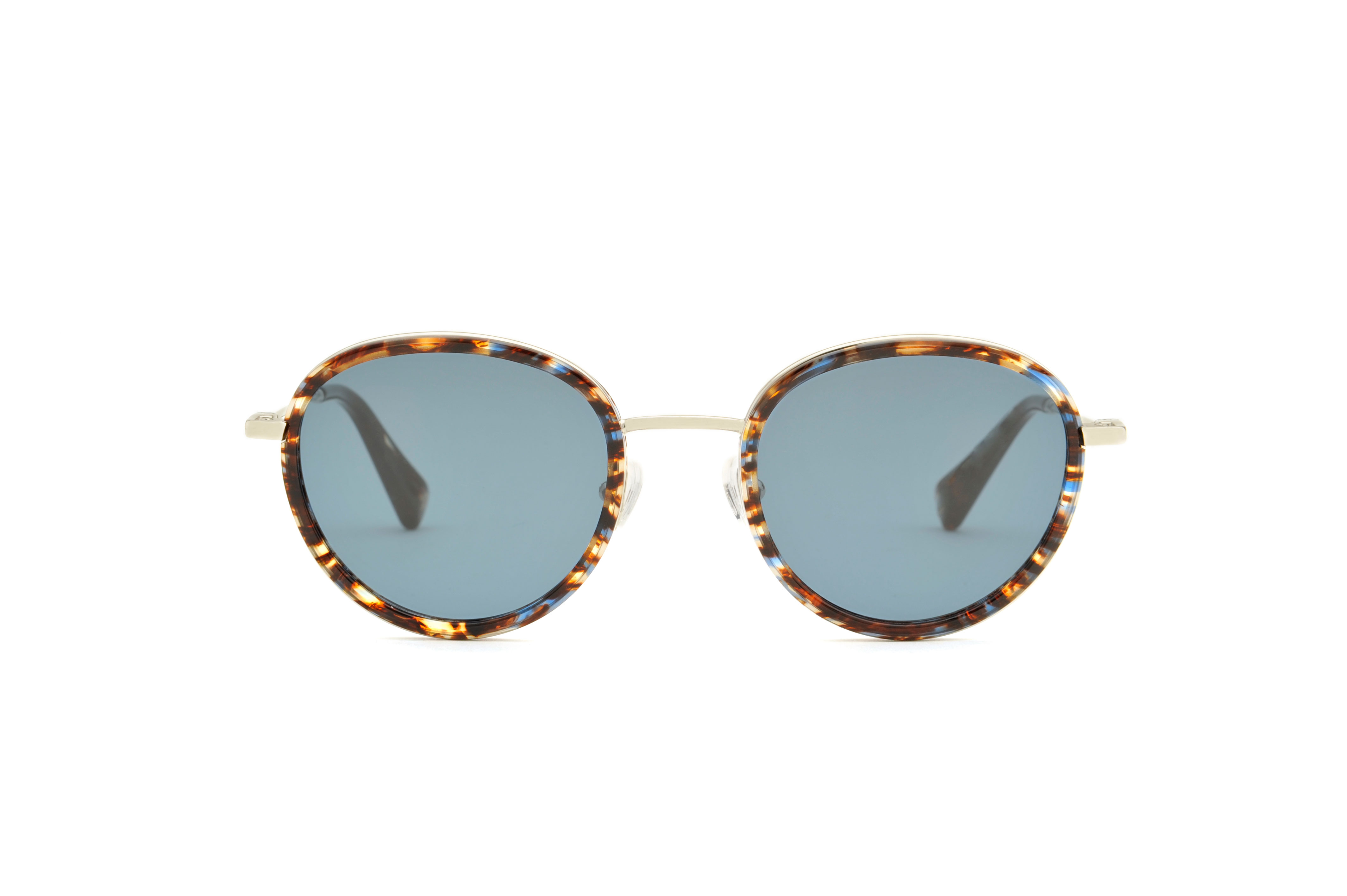 Pixie acetate/metal rounded tortoise sunglasses by GIGI Studios