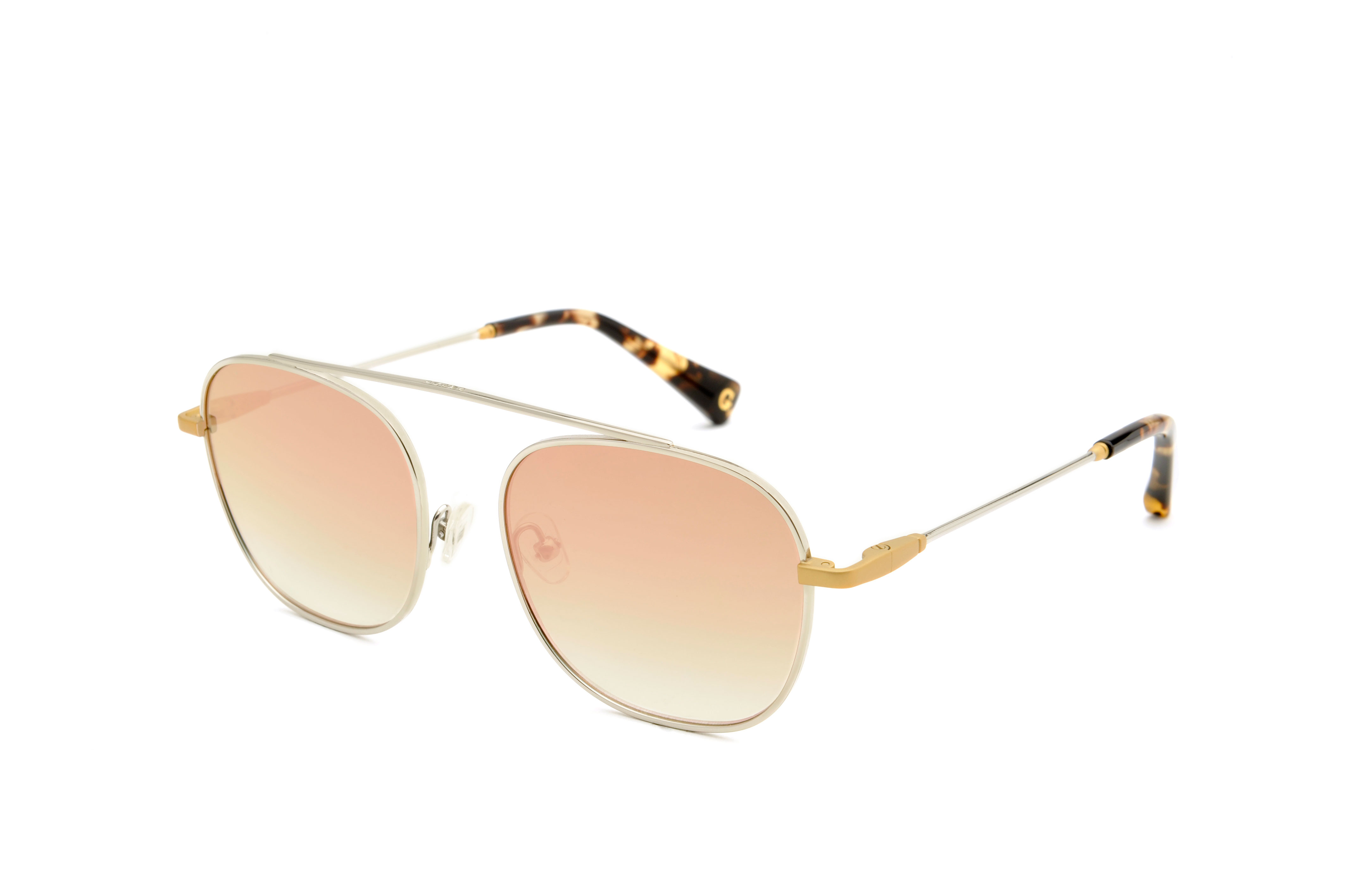Moon metal aviator gold sunglasses by GIGI Studios