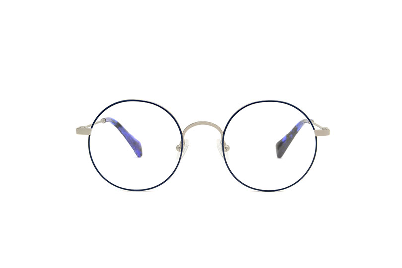 Orion metal rounded blue sunglasses by GIGI Studios