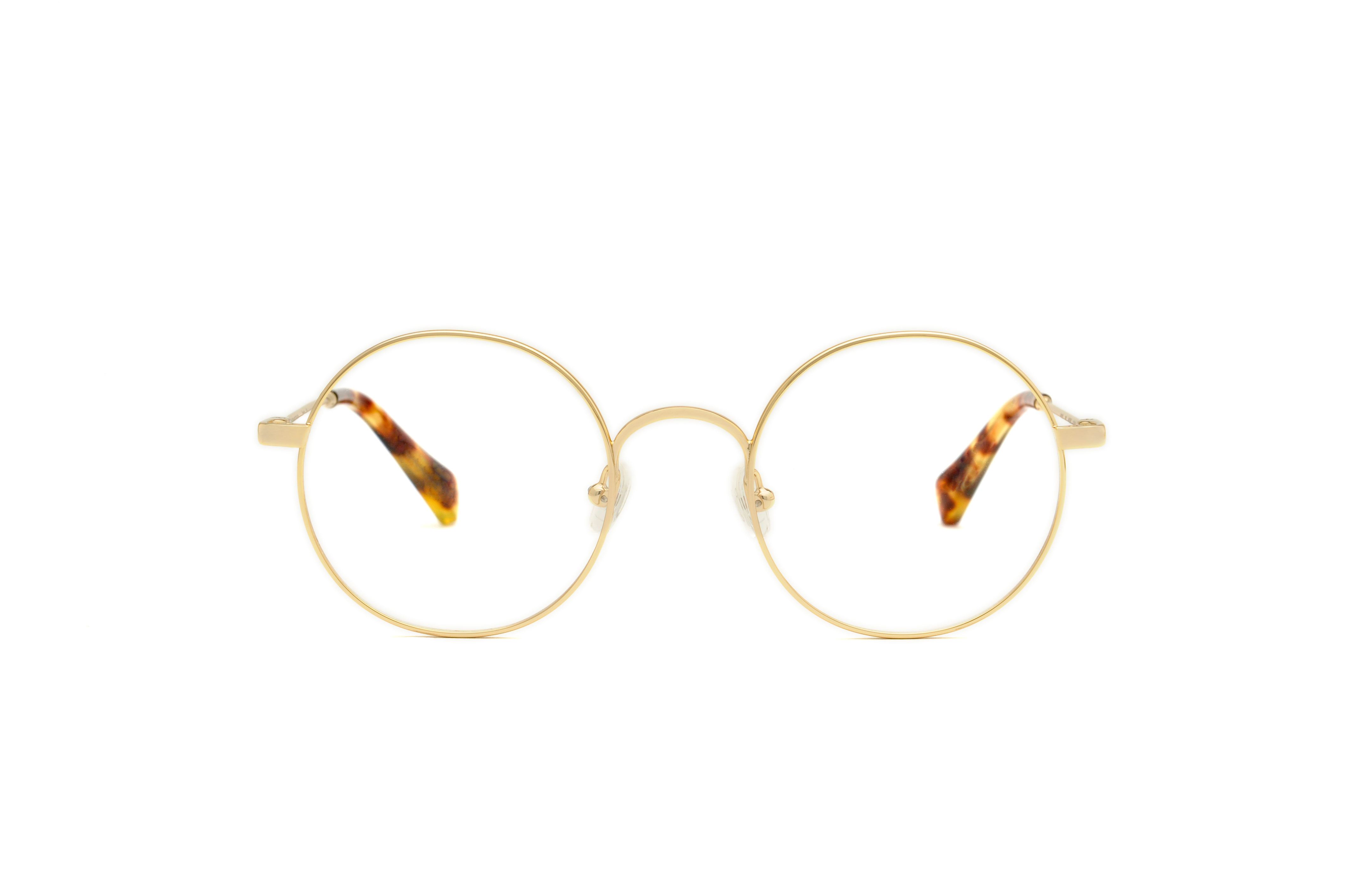 Orion metal rounded gold sunglasses by GIGI Studios