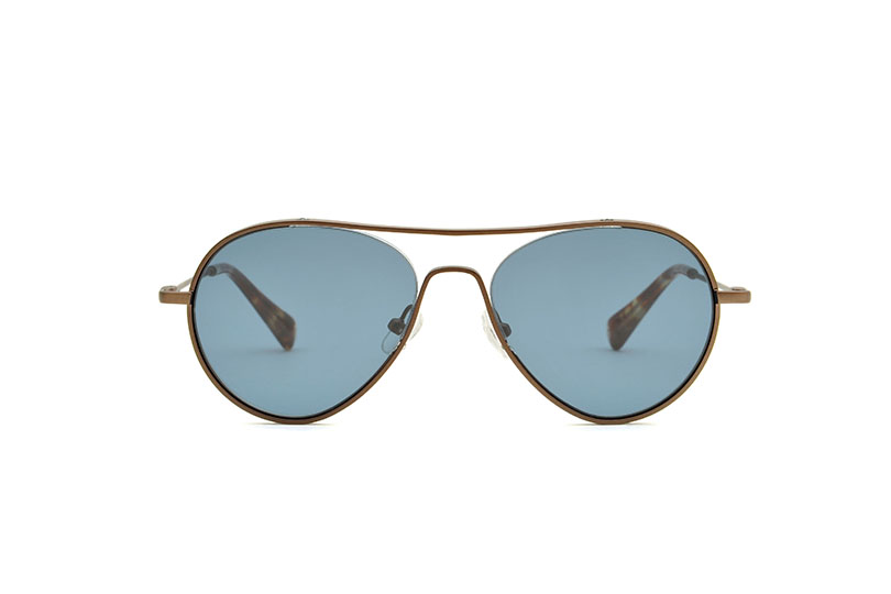 Winter metal aviator brown sunglasses by GIGI Studios