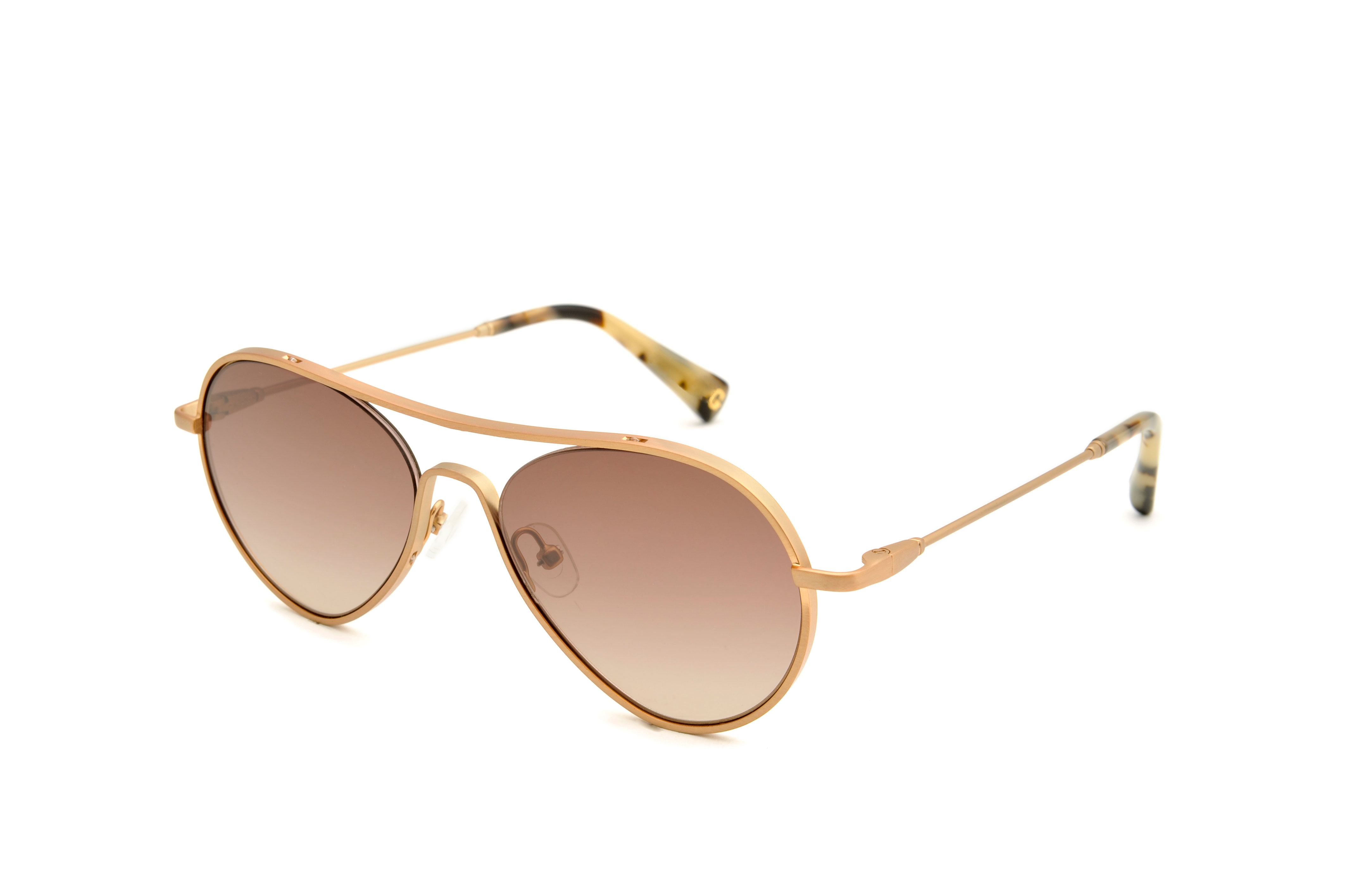 Winter metal aviator gold sunglasses by GIGI Studios