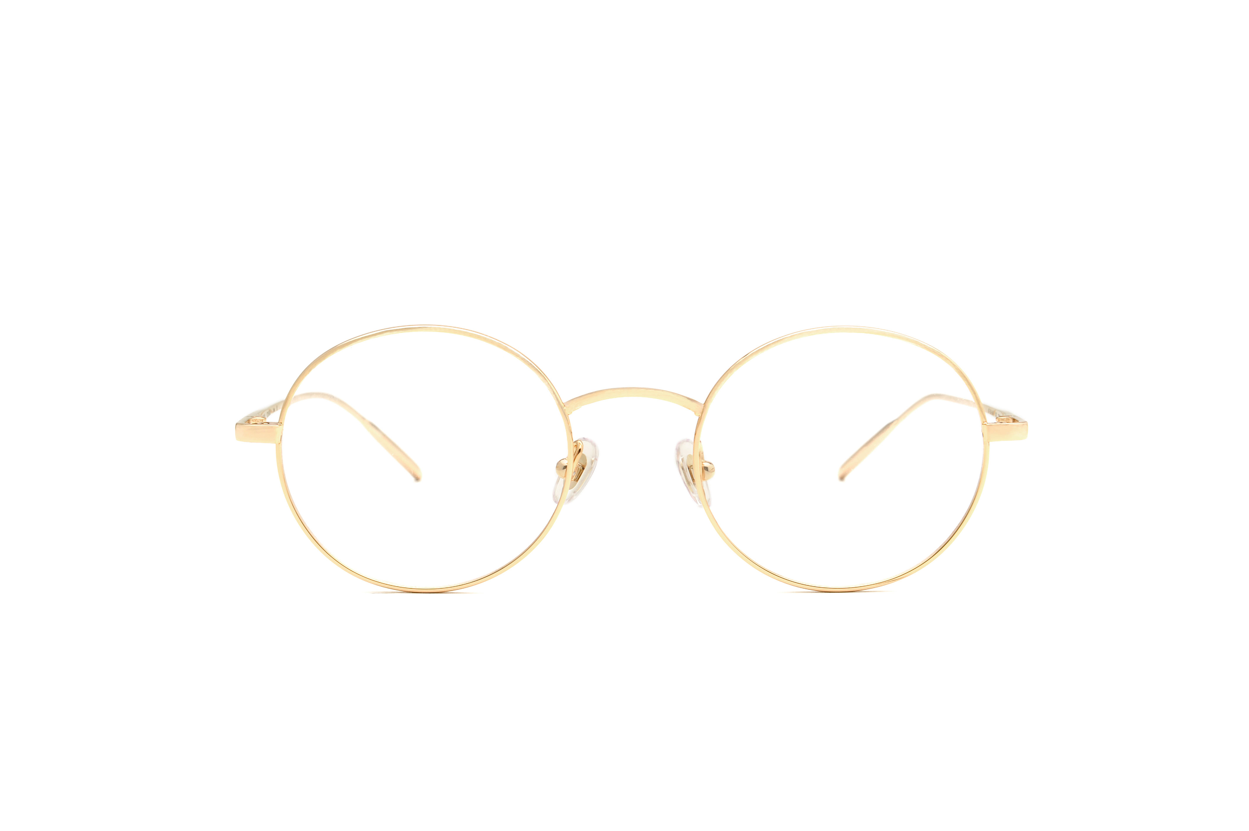 Tokyo metal rounded gold sunglasses by GIGI Studios