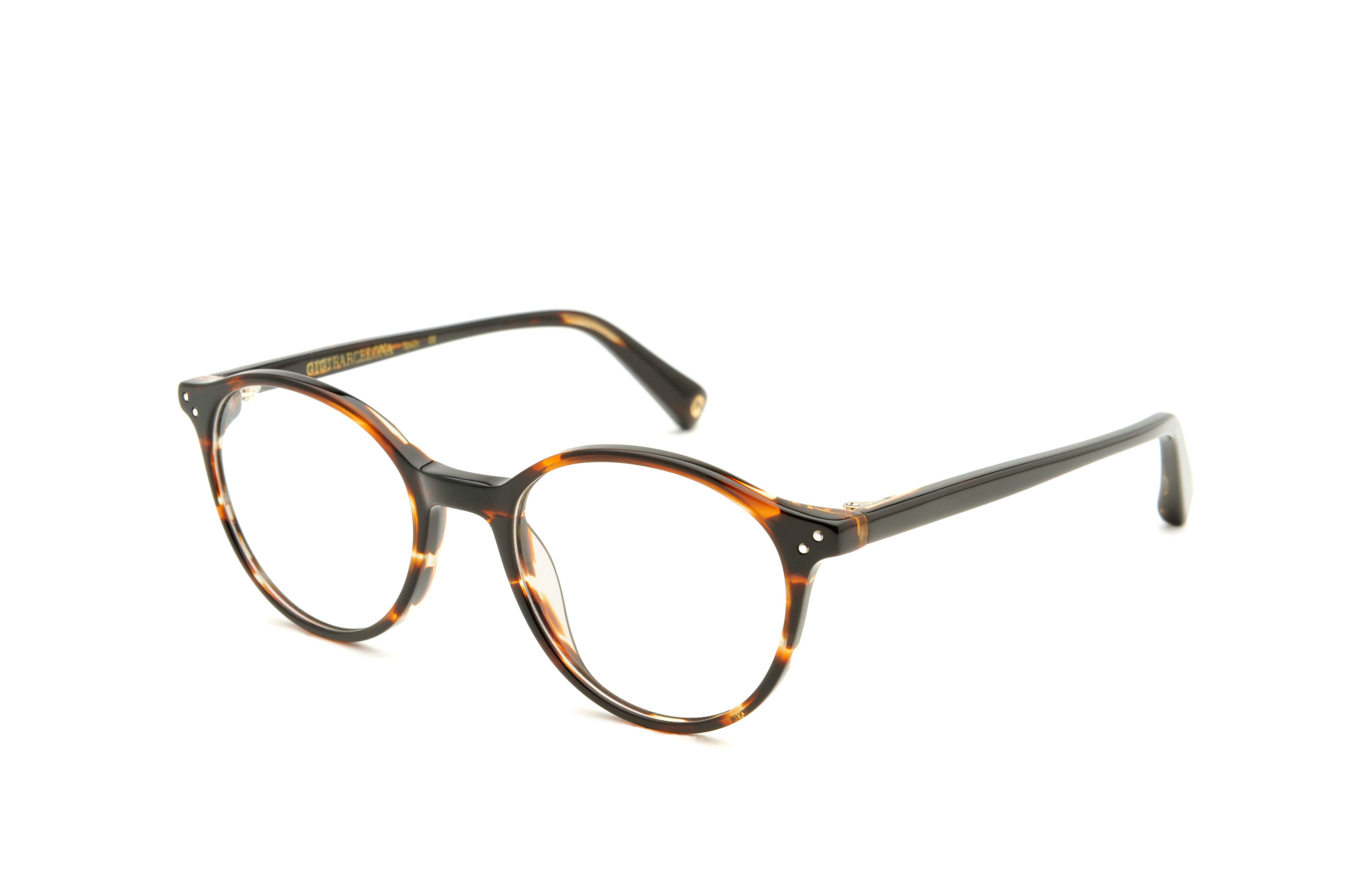 Brooks acetate rounded brown sunglasses by GIGI Studios