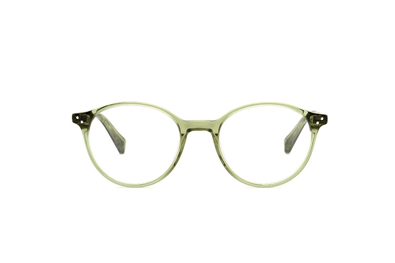 Brooks acetate rounded green sunglasses by GIGI Studios